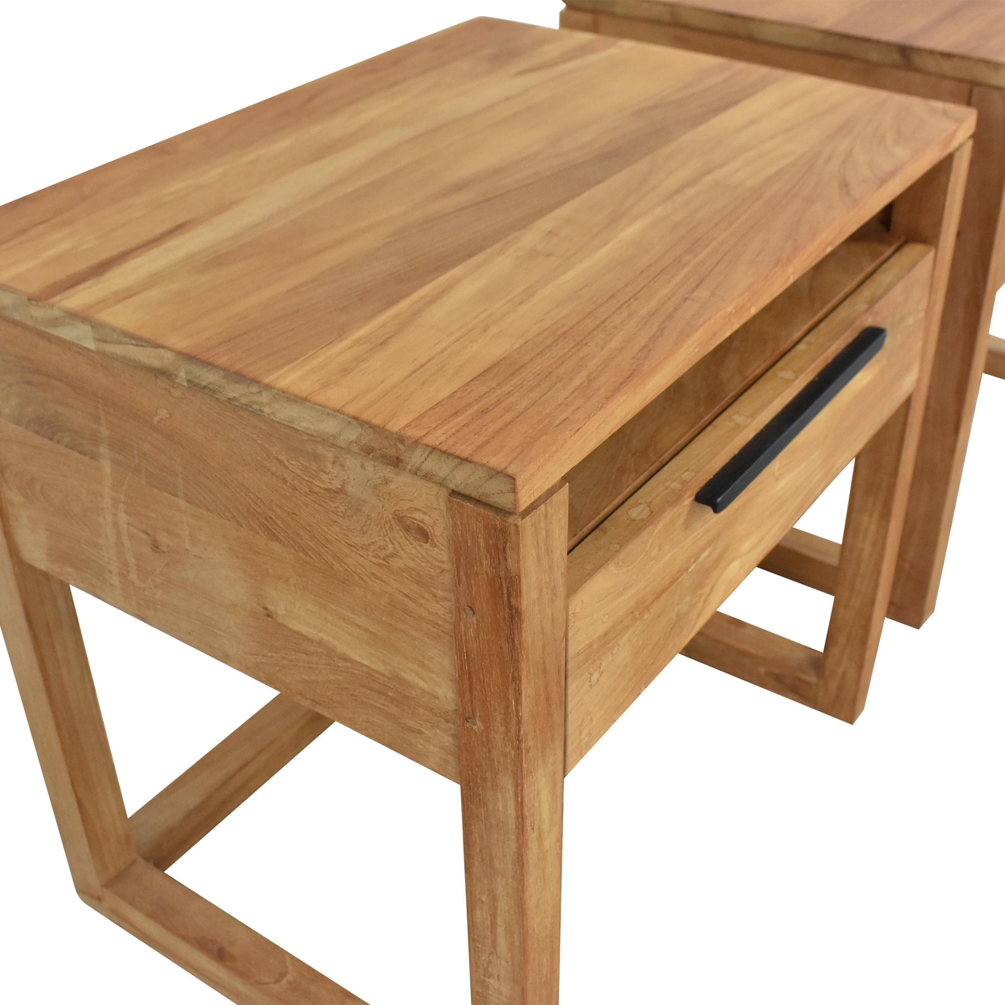 Crate & Barrel Linea II Nightstands / End Tables
