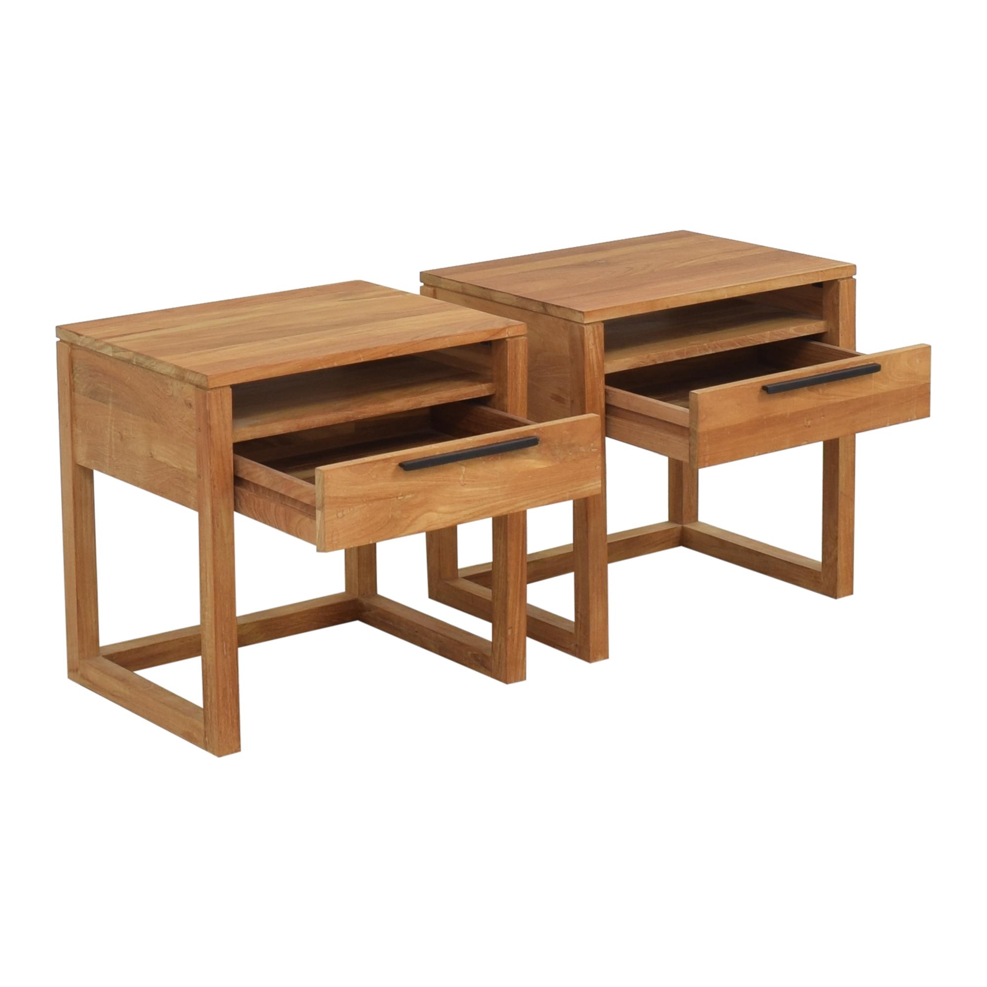 Crate & Barrel Crate & Barrel Linea II Nightstands for sale