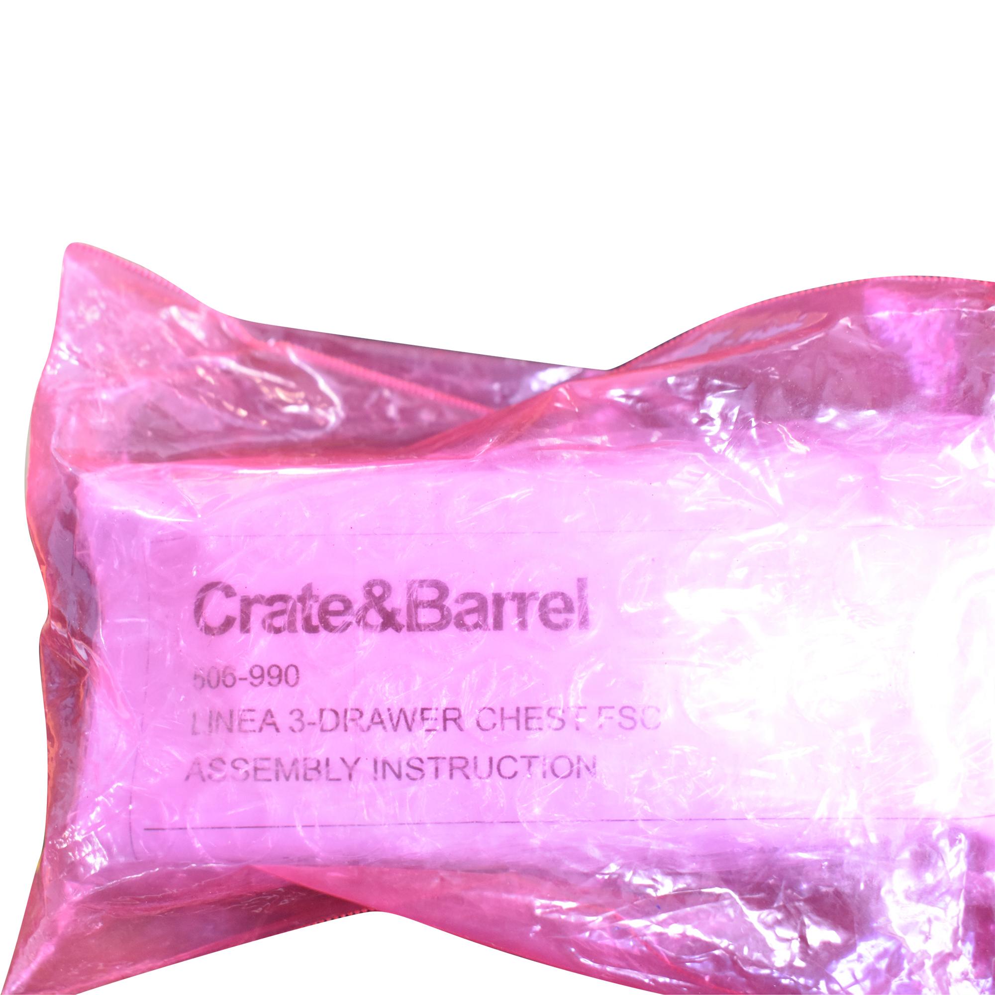 Crate & Barrel Crate & Barrel Linea II Three-Drawer Chest ma
