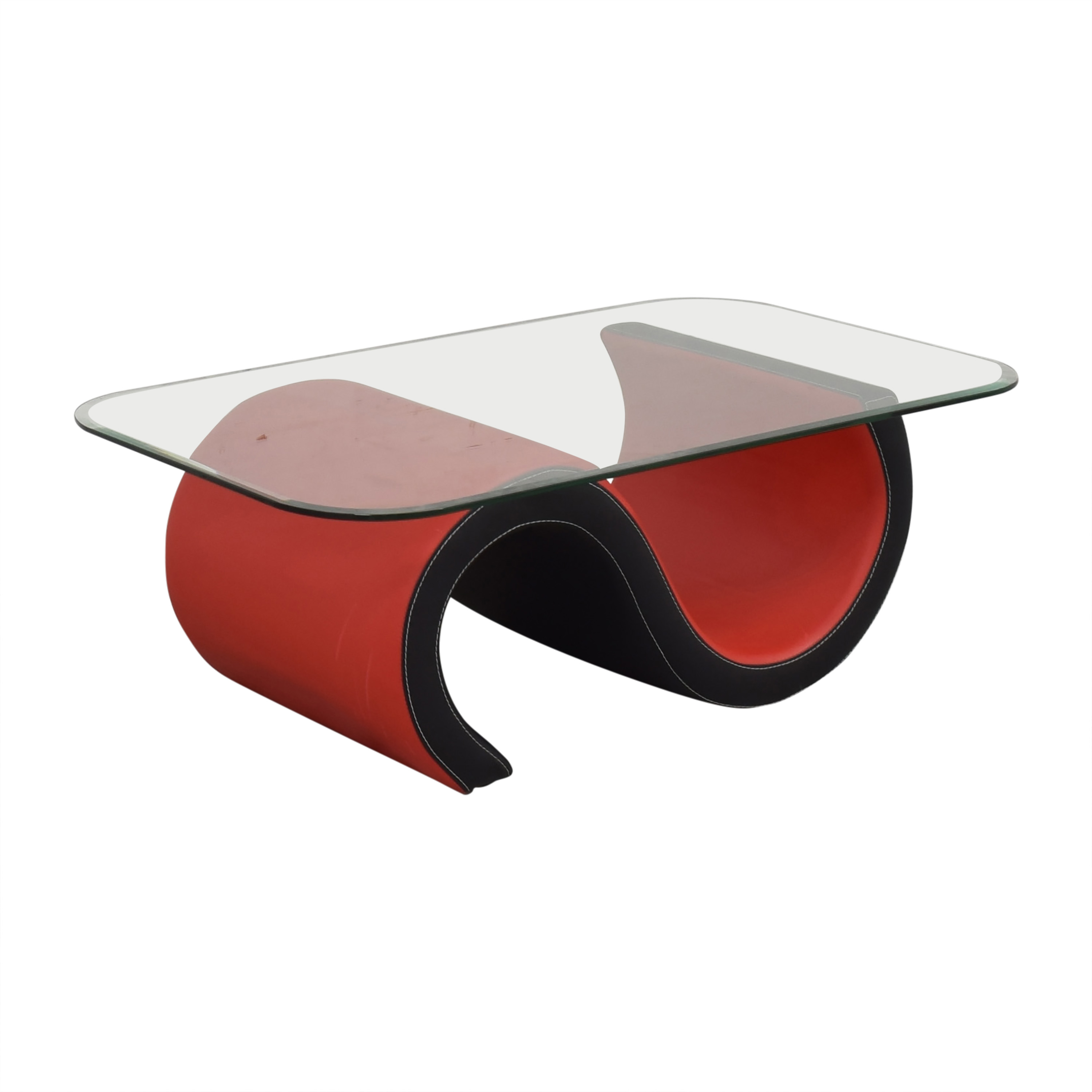 Macy's Abstract Coffee Table with Transparent Surface / Tables