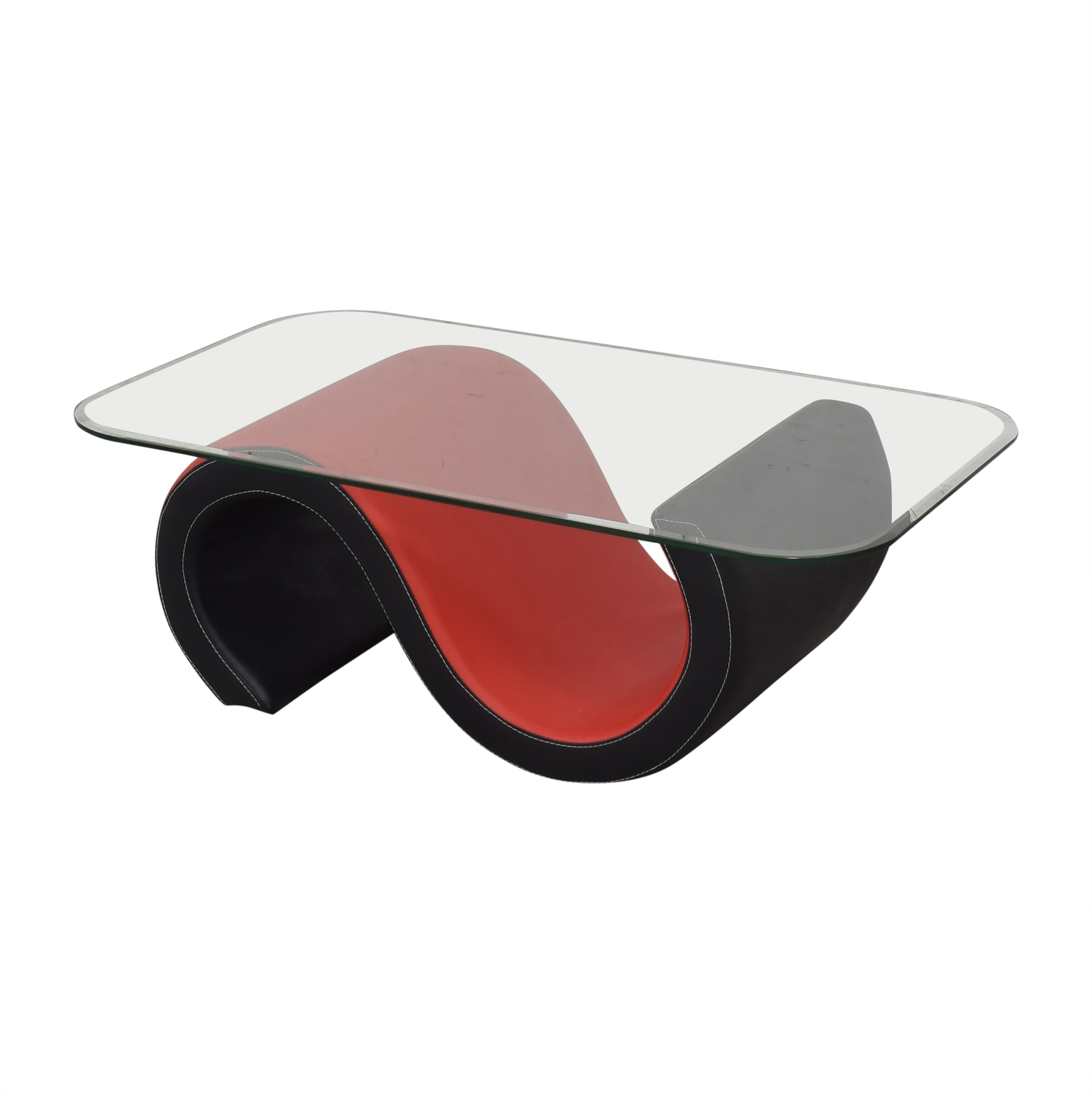 Macy's Macy's Abstract Coffee Table with Transparent Surface ct