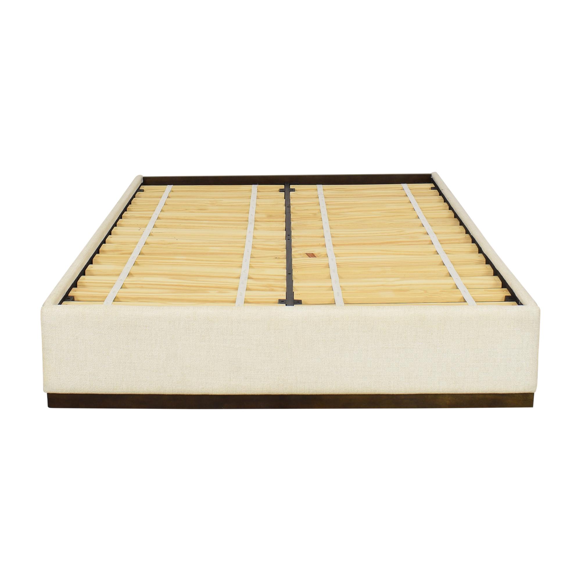 shop West Elm Plinth Full Platform Bed West Elm Bed Frames