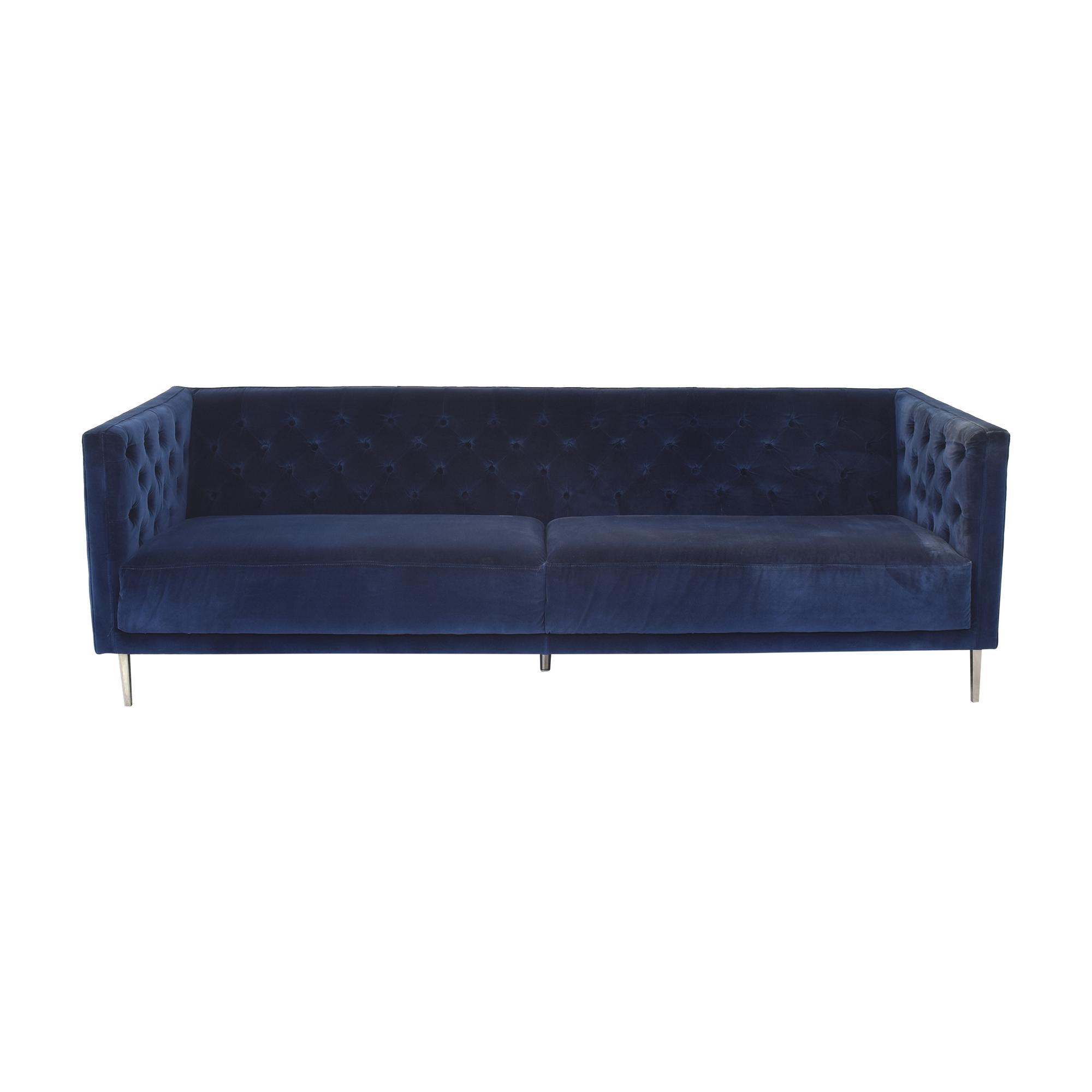 CB2 CB2 Savile Tufted Sofa blue