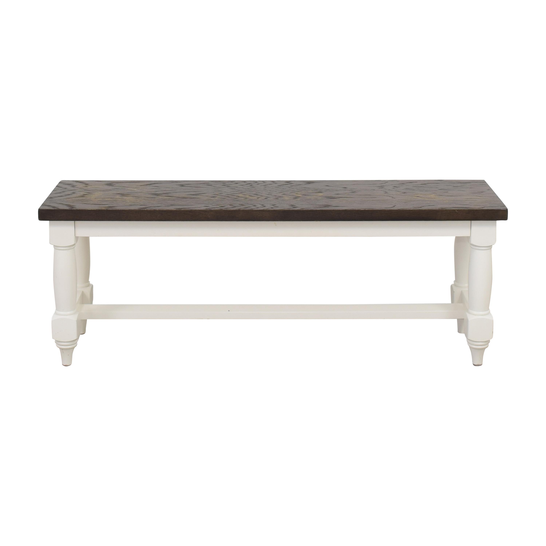 Bassett Furniture Bassett Two Tone Bench dimensions
