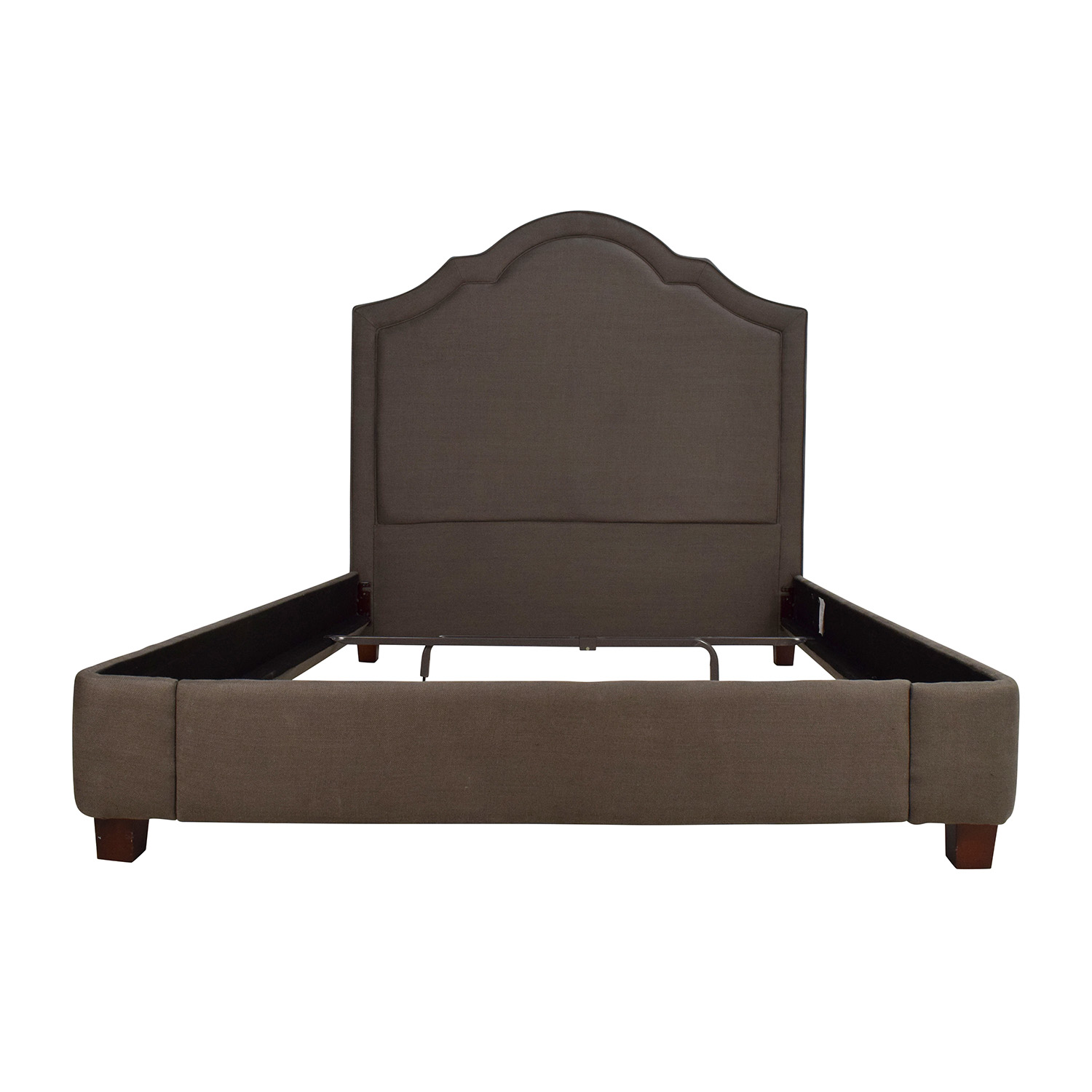 buy Restoration Hardware Restoration Hardware Jameson Queen Bed Belgian Linen Charcoal online