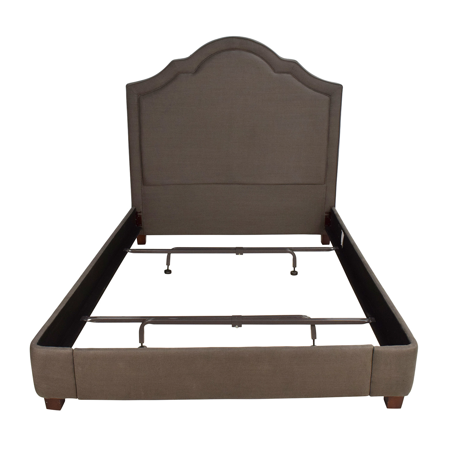 Restoration Hardware Restoration Hardware Jameson Queen Bed Belgian Linen Charcoal nj