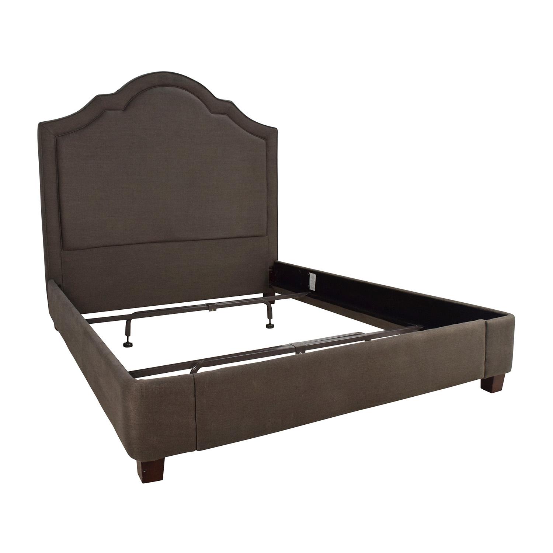 Restoration Hardware Restoration Hardware Jameson Queen Bed Belgian Linen Charcoal discount