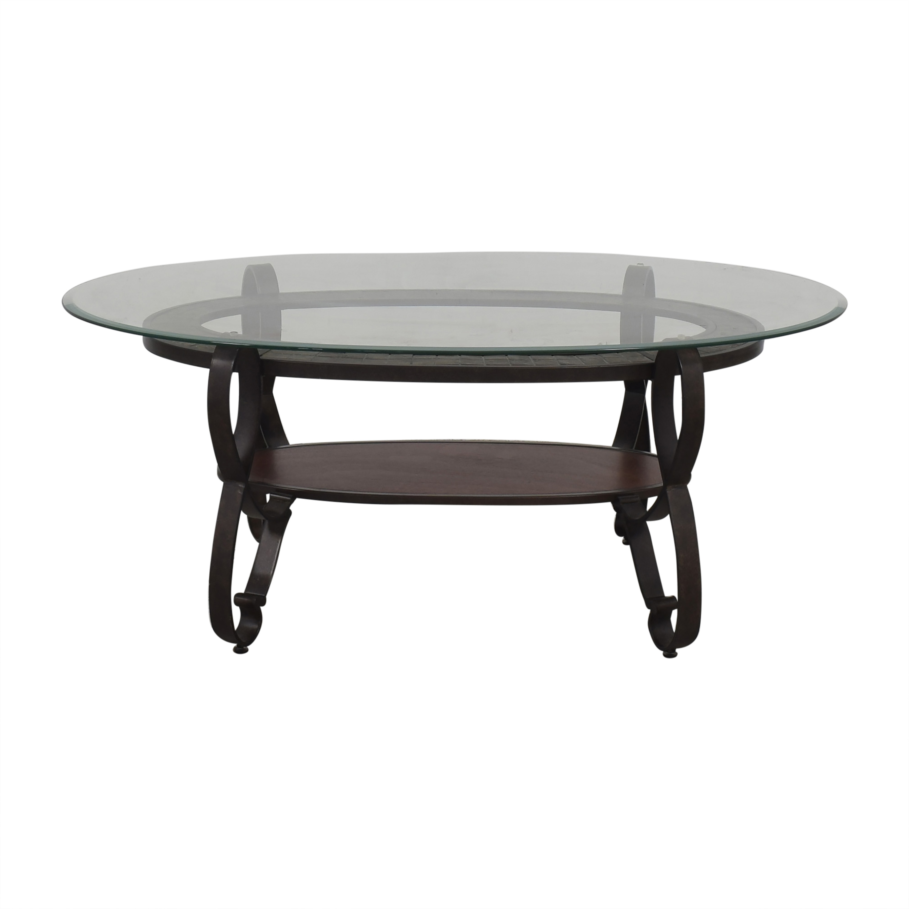 Raymour & Flanigan Raymour & Flanigan Oval Coffee Table black