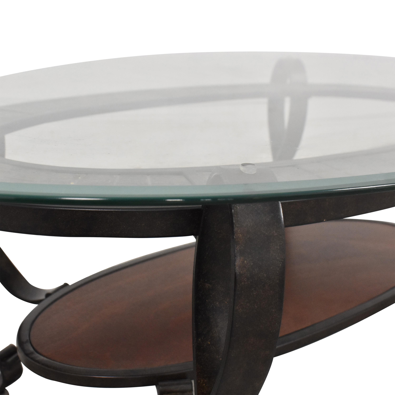 buy Raymour & Flanigan Oval Coffee Table Raymour & Flanigan Coffee Tables