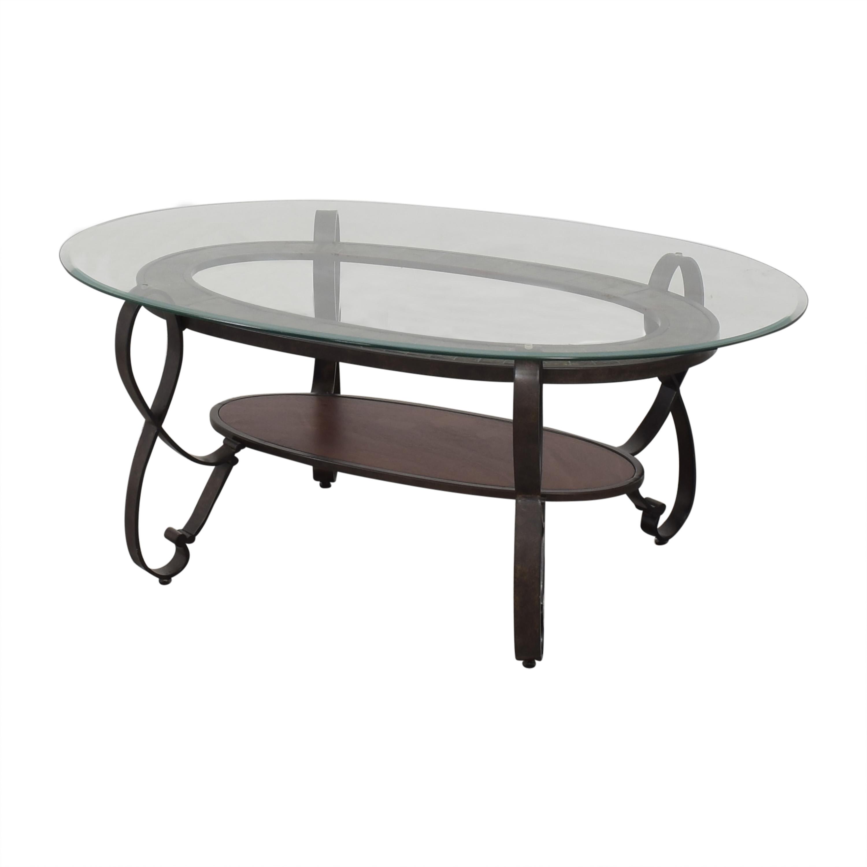 Raymour & Flanigan Raymour & Flanigan Oval Coffee Table discount