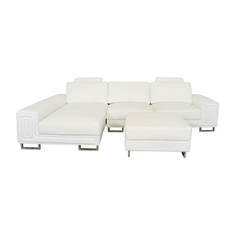 Modern Sectional Sofa with Ottoman nj