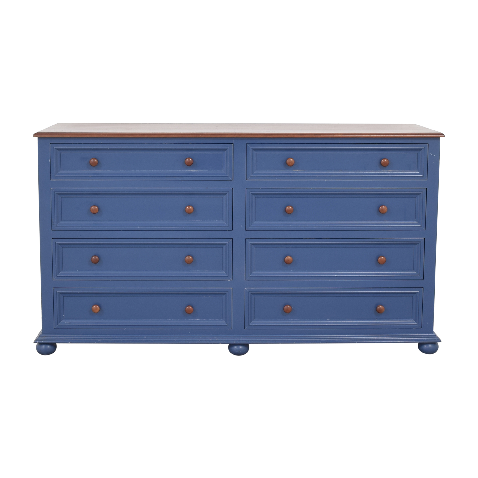 Eight Drawer Double Dresser Storage