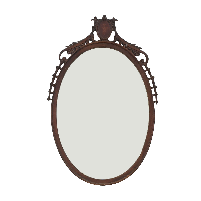 Vintage Oval Mirror pa