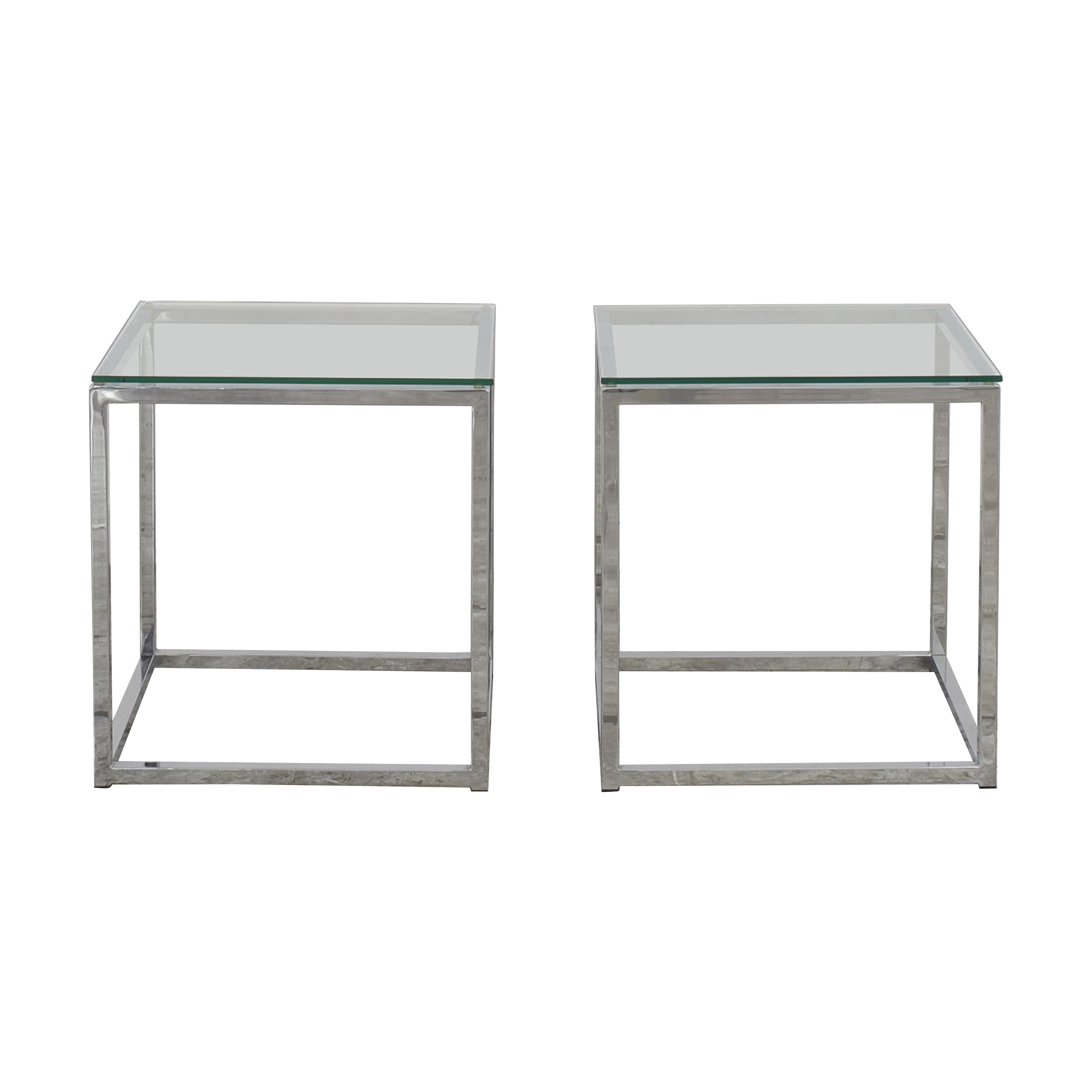 CB2 CB2 Square Top End Tables second hand