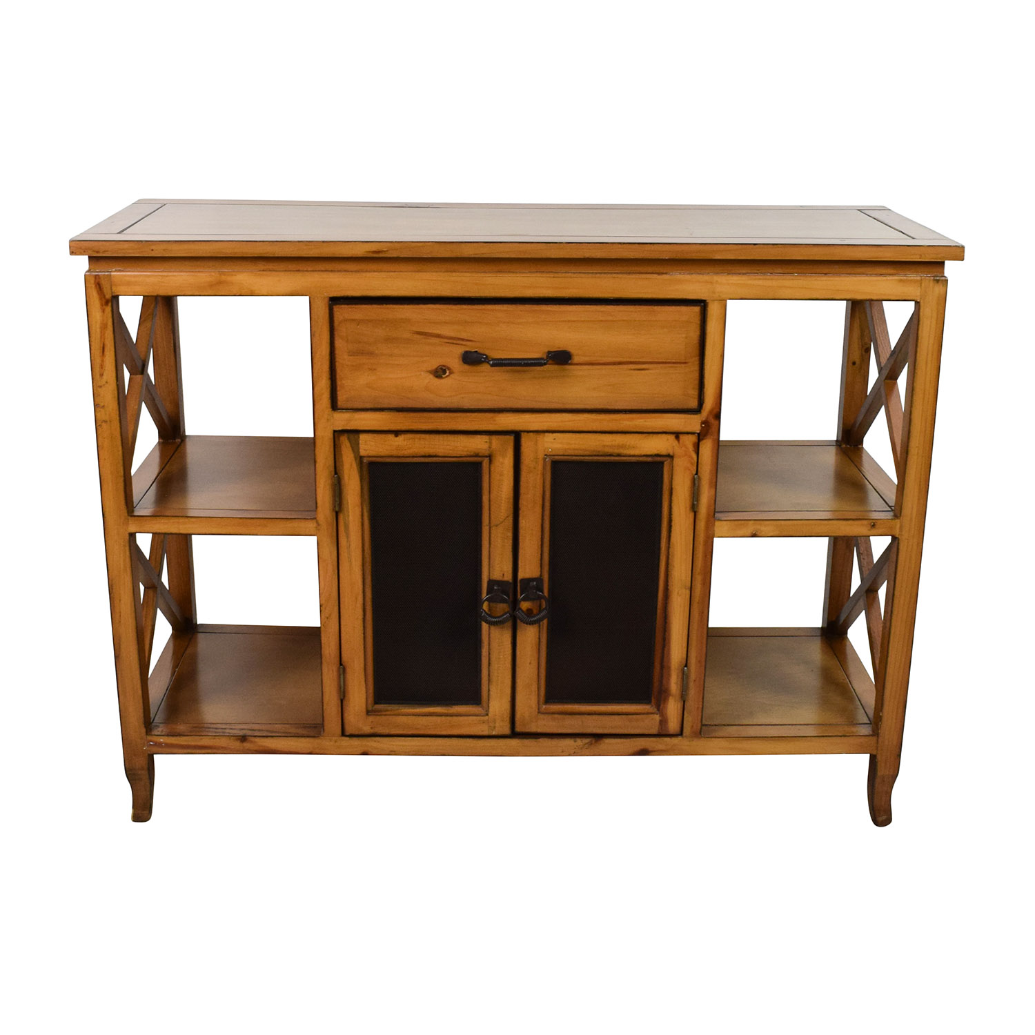 Brown Wooden Entrance Table dimensions