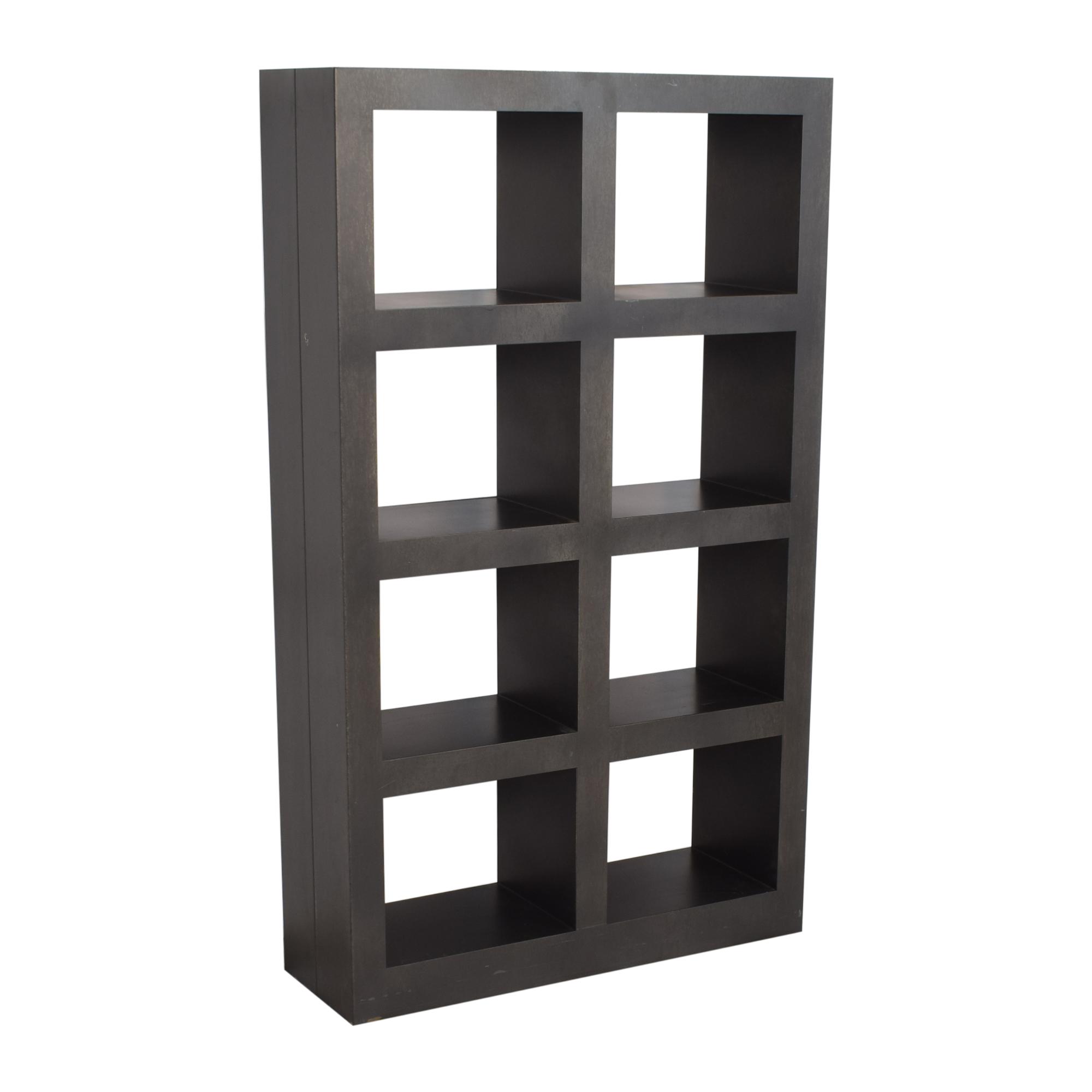 Crate & Barrel Crate & Barrel Shadow Box Tower dark grey