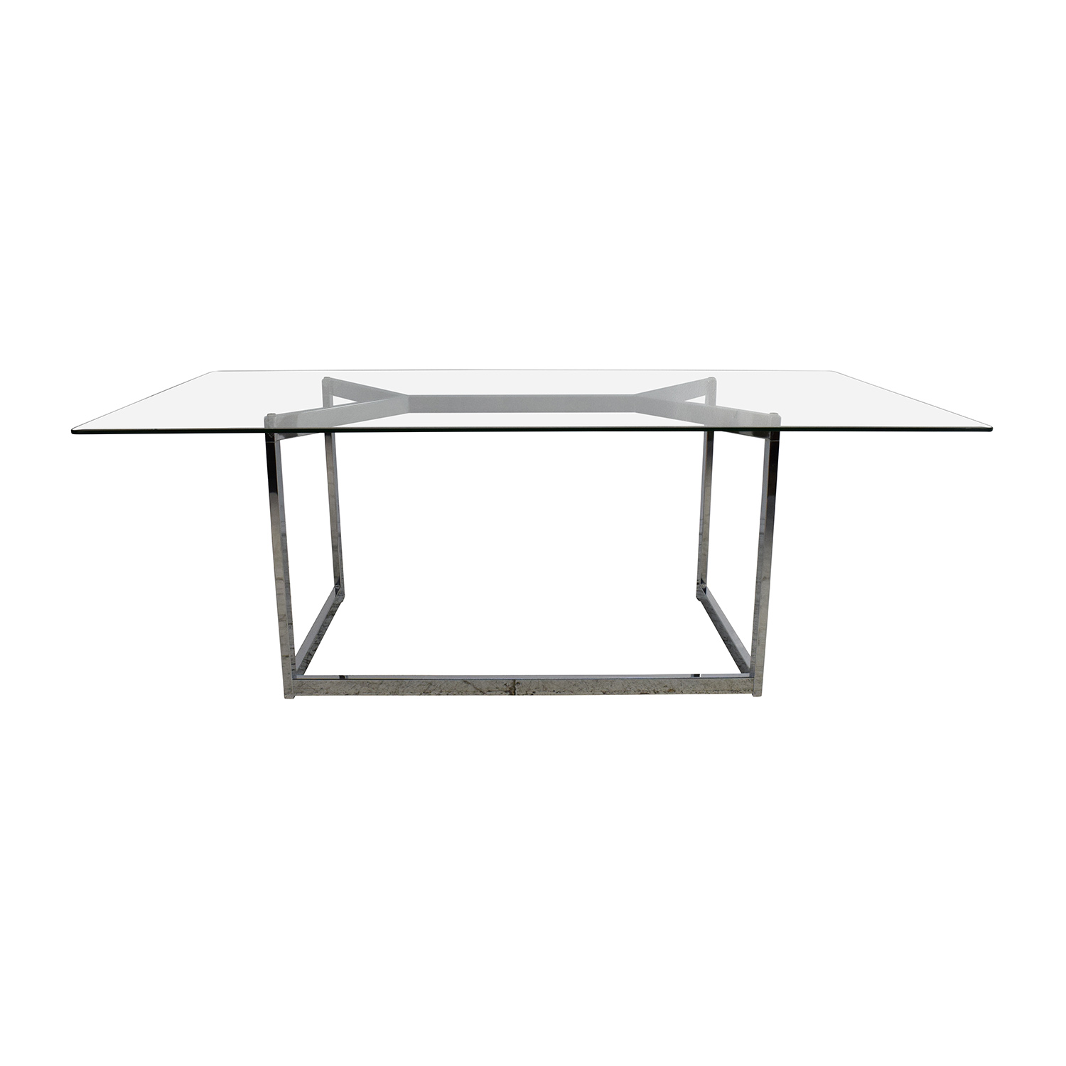 shop CB2 CB2 Tesso Chrome and Glass Dining Table online
