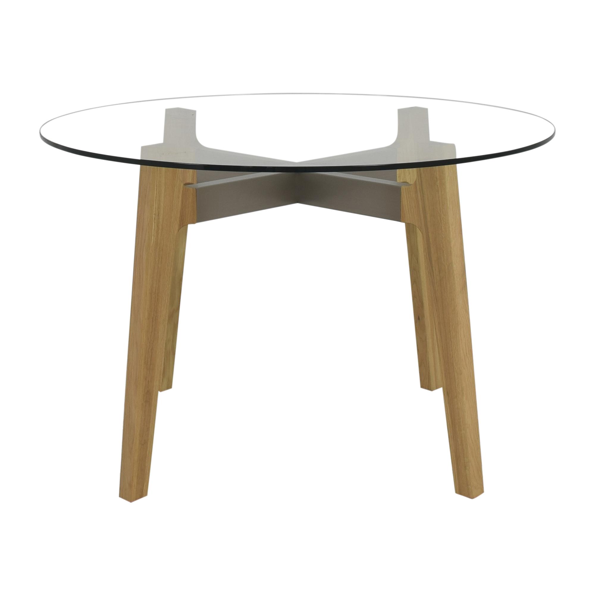 buy CB2 Round Brace Dining Table CB2