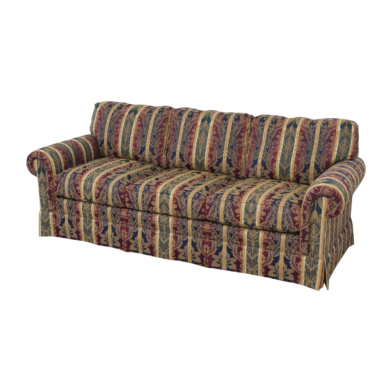 Sherrill Furniture Sherrill Furniture Three Cushion Roll Arm Sofa multi