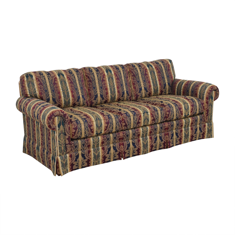 shop Sherrill Furniture Three Cushion Roll Arm Sofa Sherrill Furniture