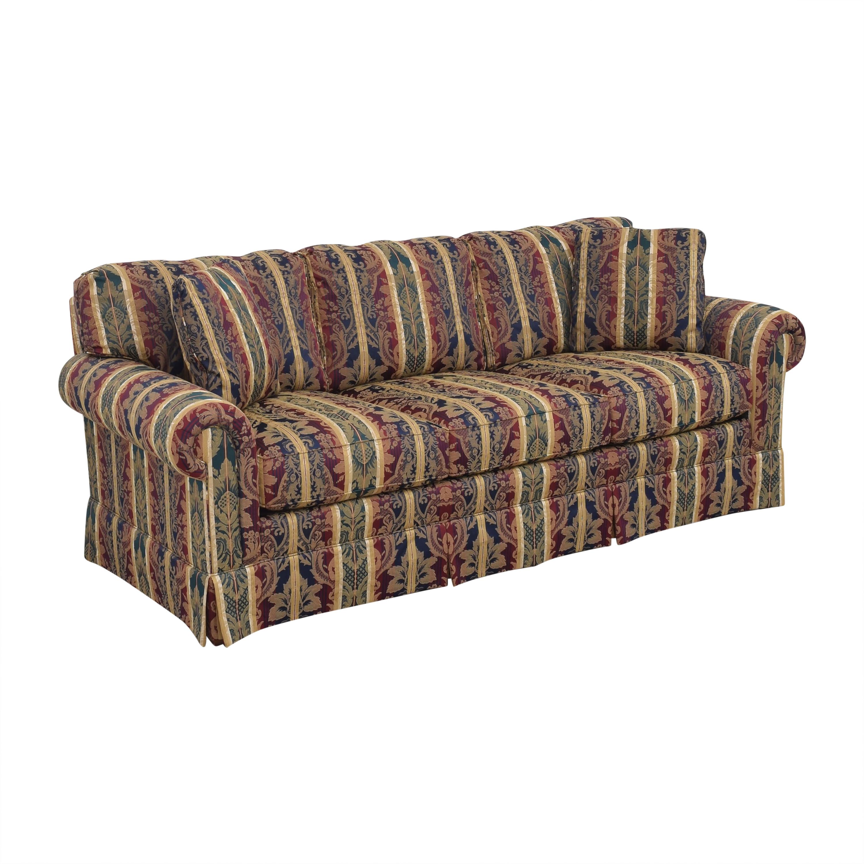buy Sherrill Furniture Three Cushion Roll Arm Sofa Sherrill Furniture Classic Sofas