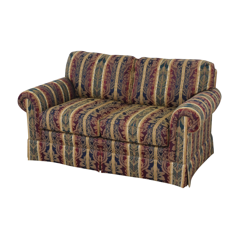 Sherrill Furniture Sherrill Furniture Stripe Patterned Loveseat second hand