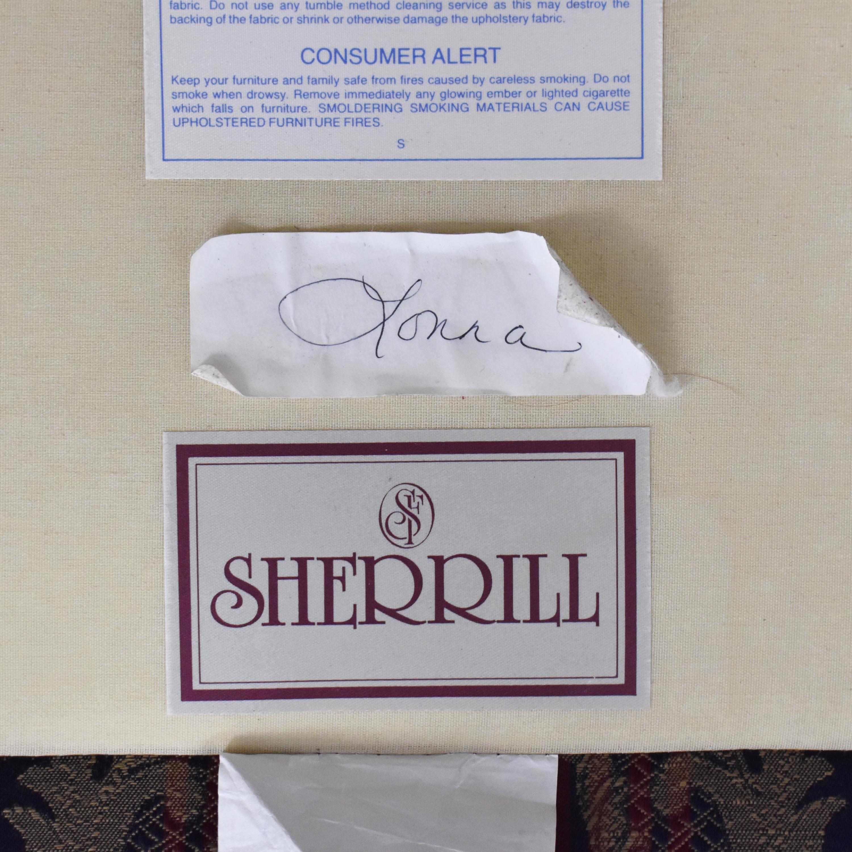 Sherrill Furniture Sherrill Furniture Stripe Patterned Loveseat Loveseats