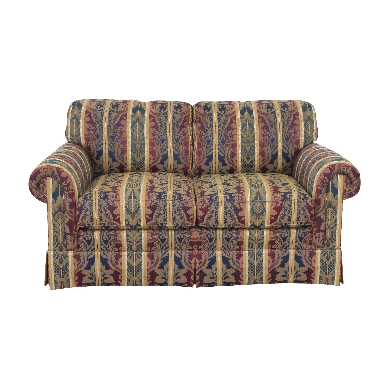 shop Sherrill Furniture Stripe Patterned Loveseat Sherrill Furniture Sofas