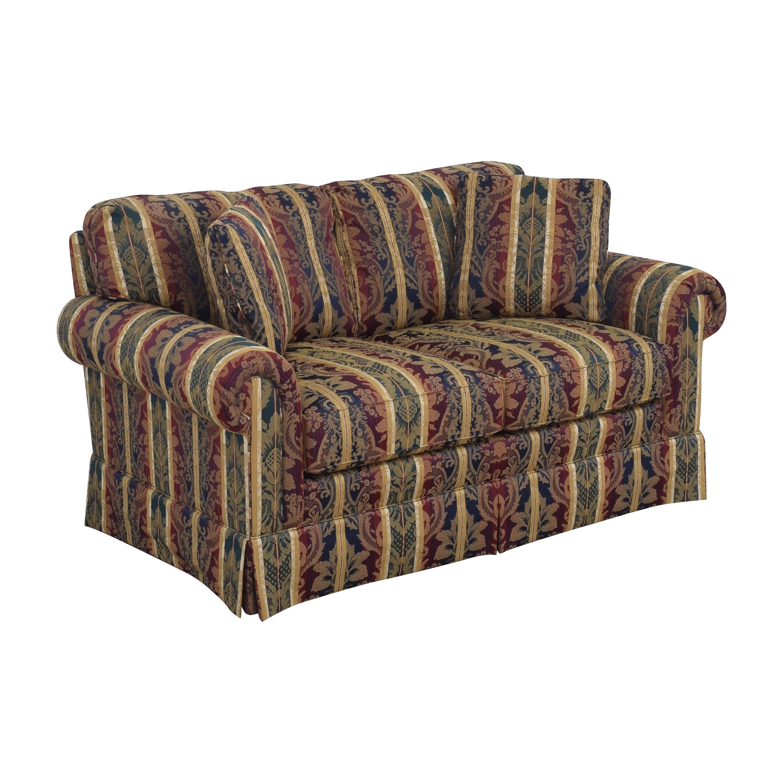 Sherrill Furniture Sherrill Furniture Stripe Patterned Loveseat for sale