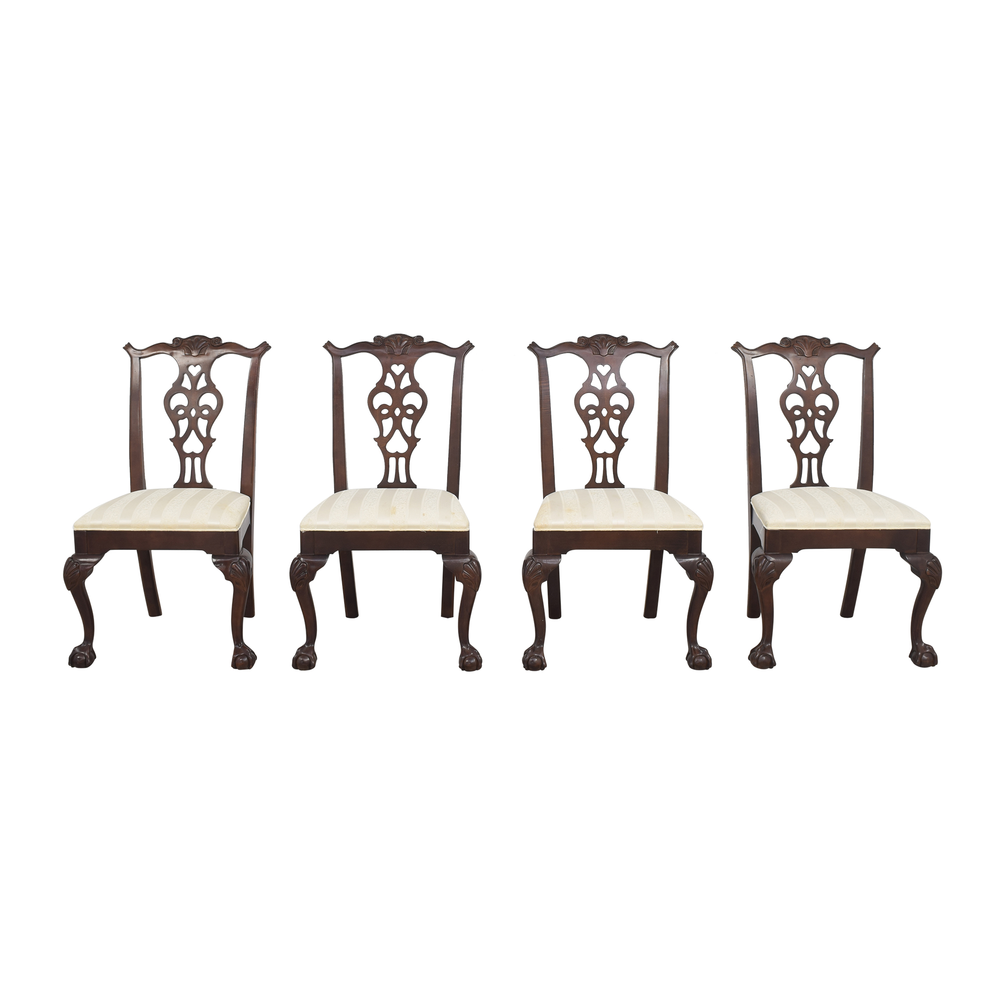 Century Furniture Clawfoot Style Dining Chairs / Chairs