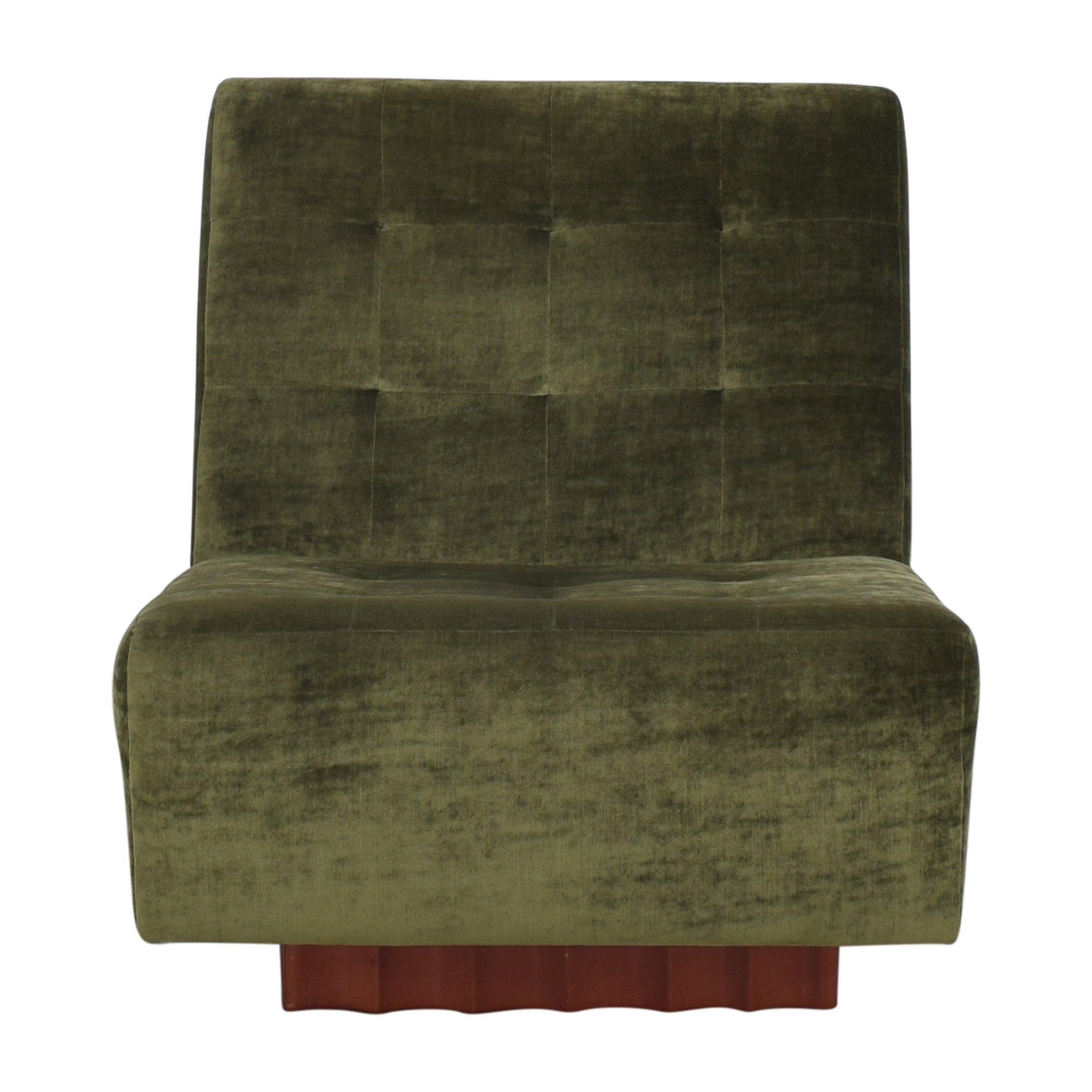 Dialogica Dialogica Swivel Tufted Slipper Chair ma