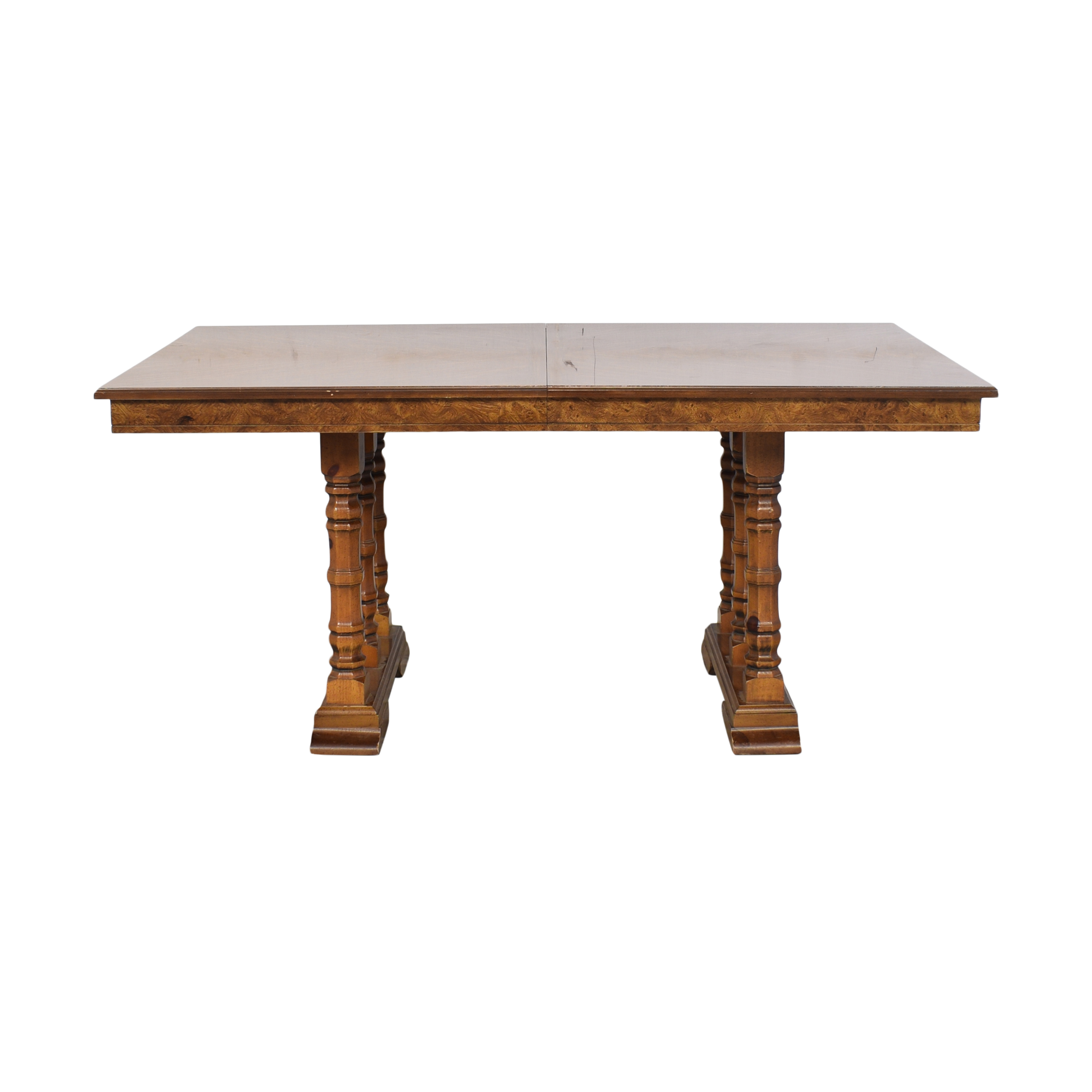 buy Double Pedestal Extendable Dining Table  Dinner Tables