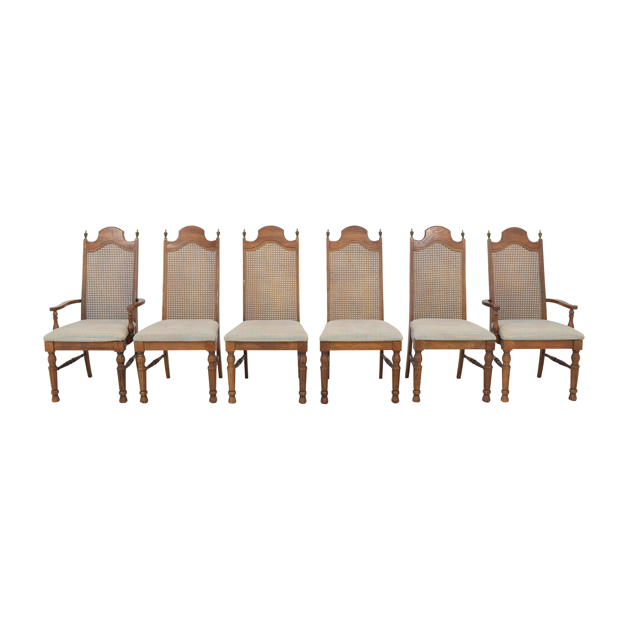 Lenoir Chair Company Lenoir Cane Back Dining Chairs ma