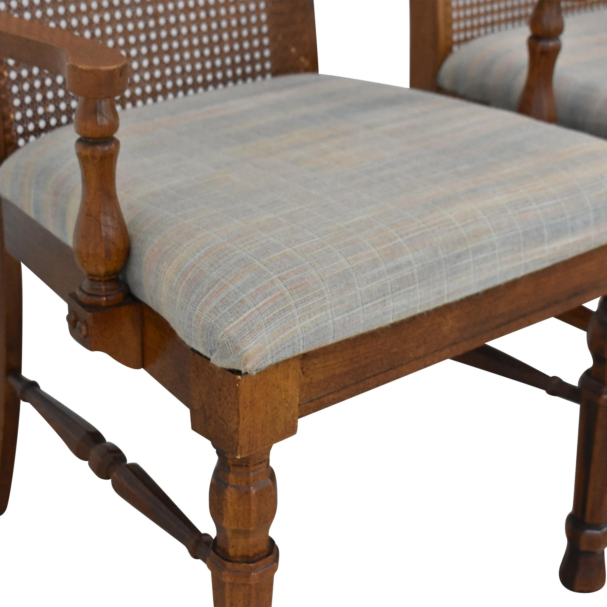 Lenoir Chair Company Lenoir Cane Back Dining Chairs brown