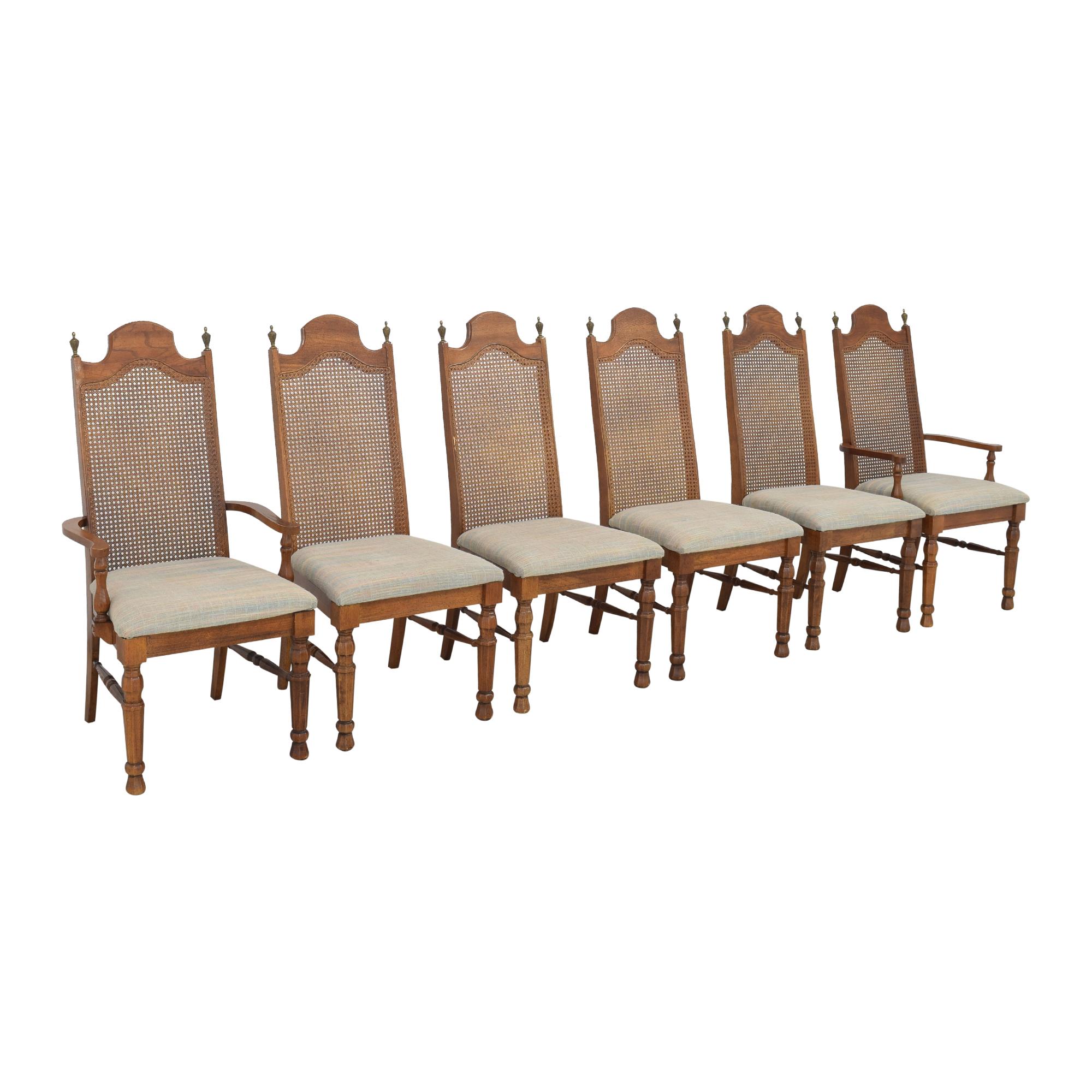 buy Lenoir Cane Back Dining Chairs Lenoir Chair Company Chairs