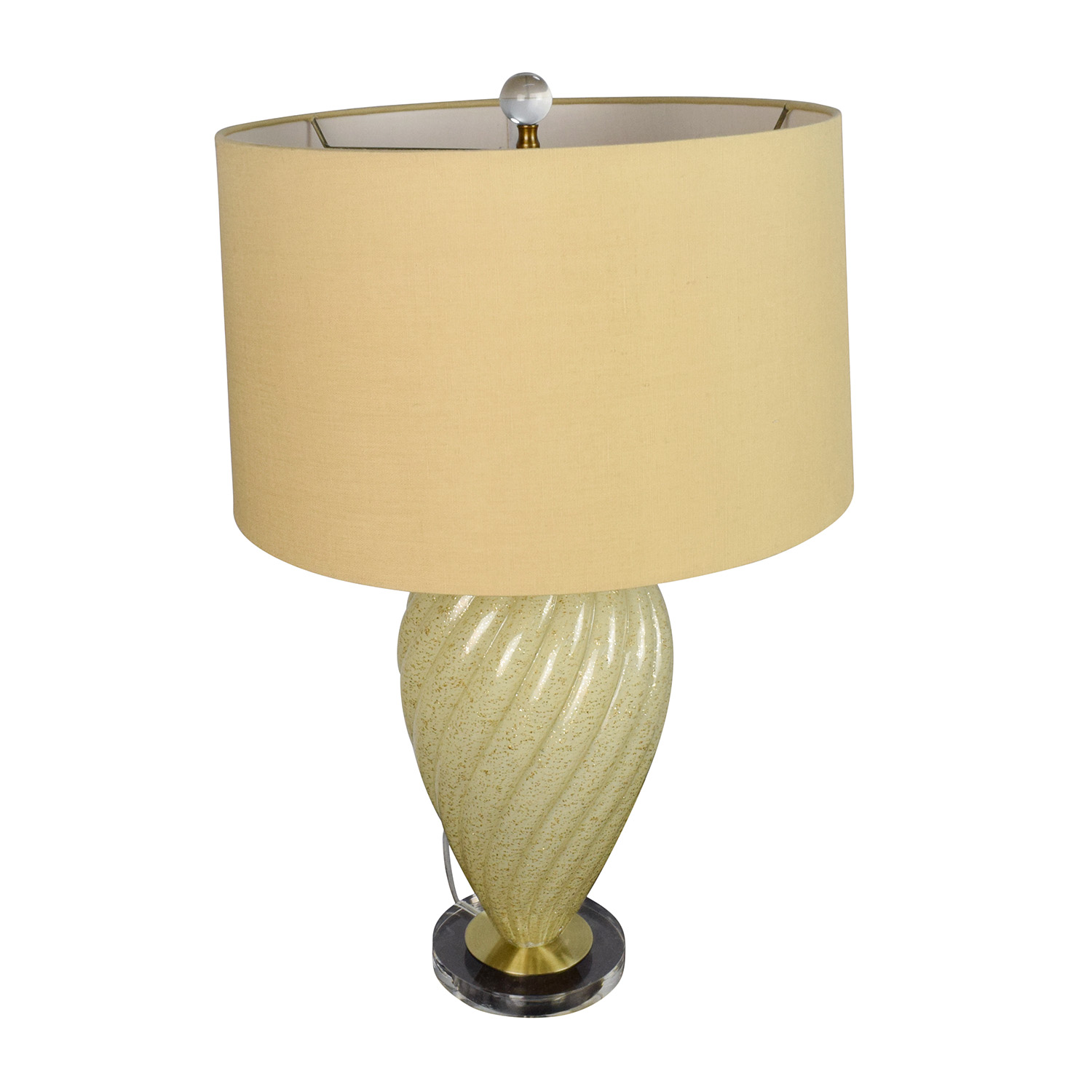Beige Ceramic Base Lamp with Beige Shade
