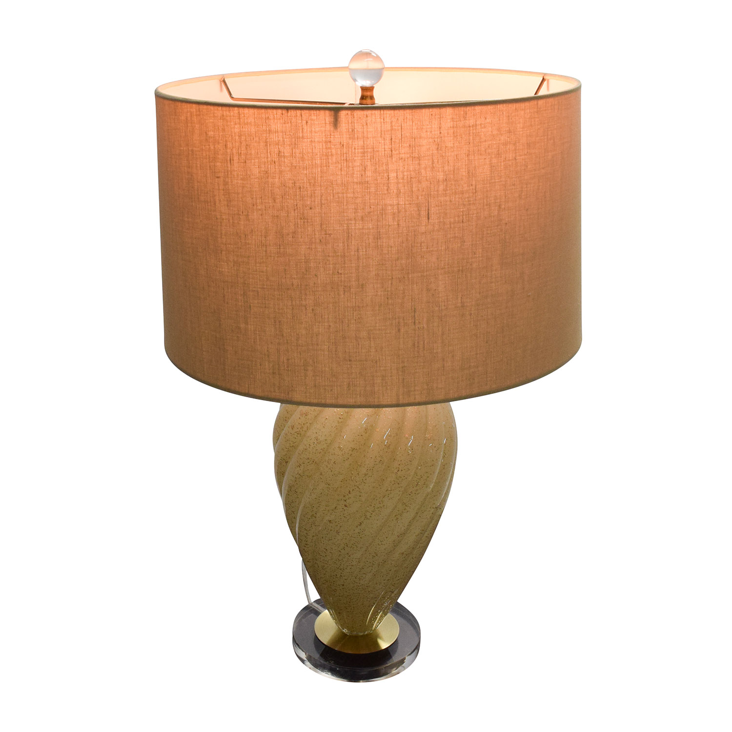buy Beige Ceramic Base Lamp with Beige Shade