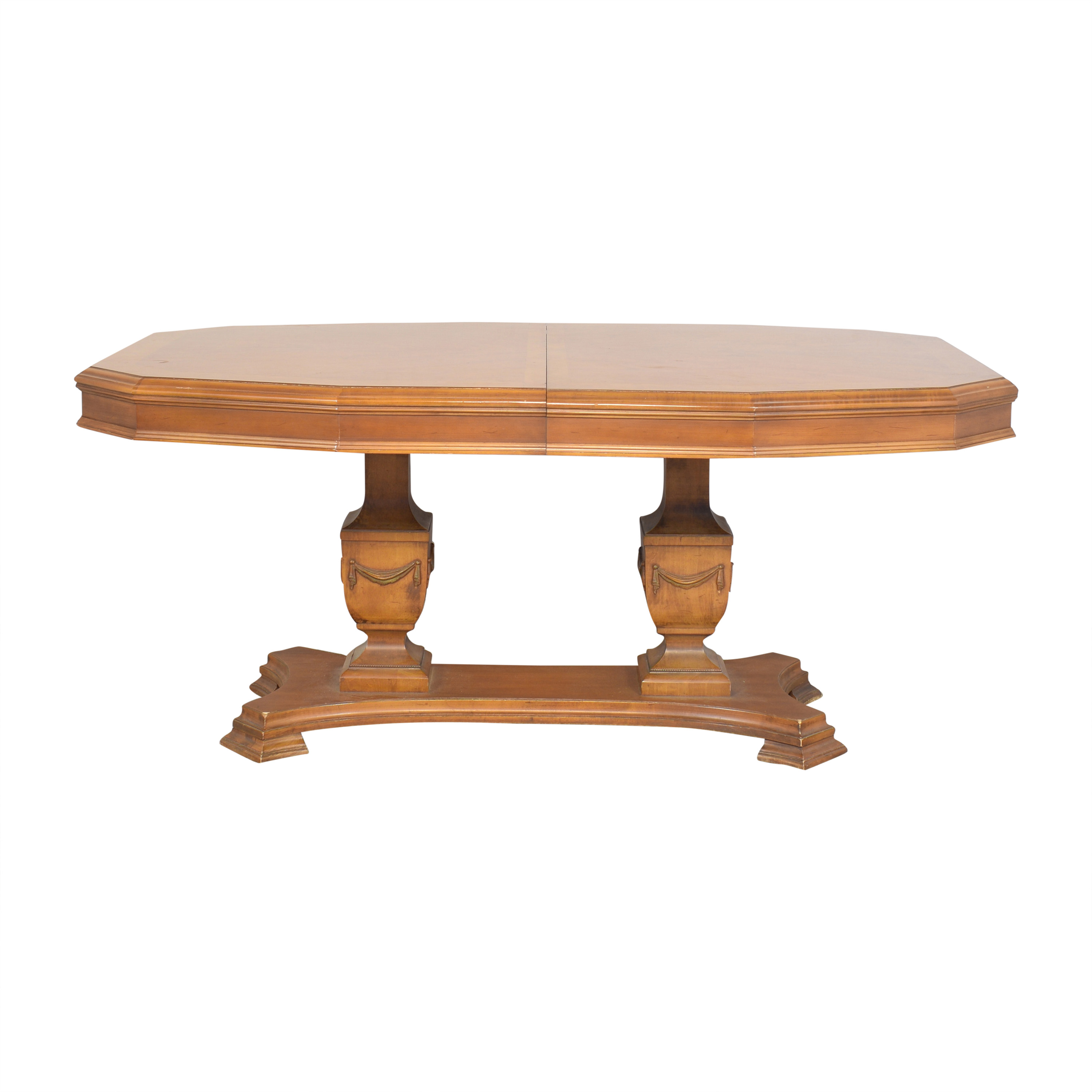 Two Pedestal Extending Dining Table Tables
