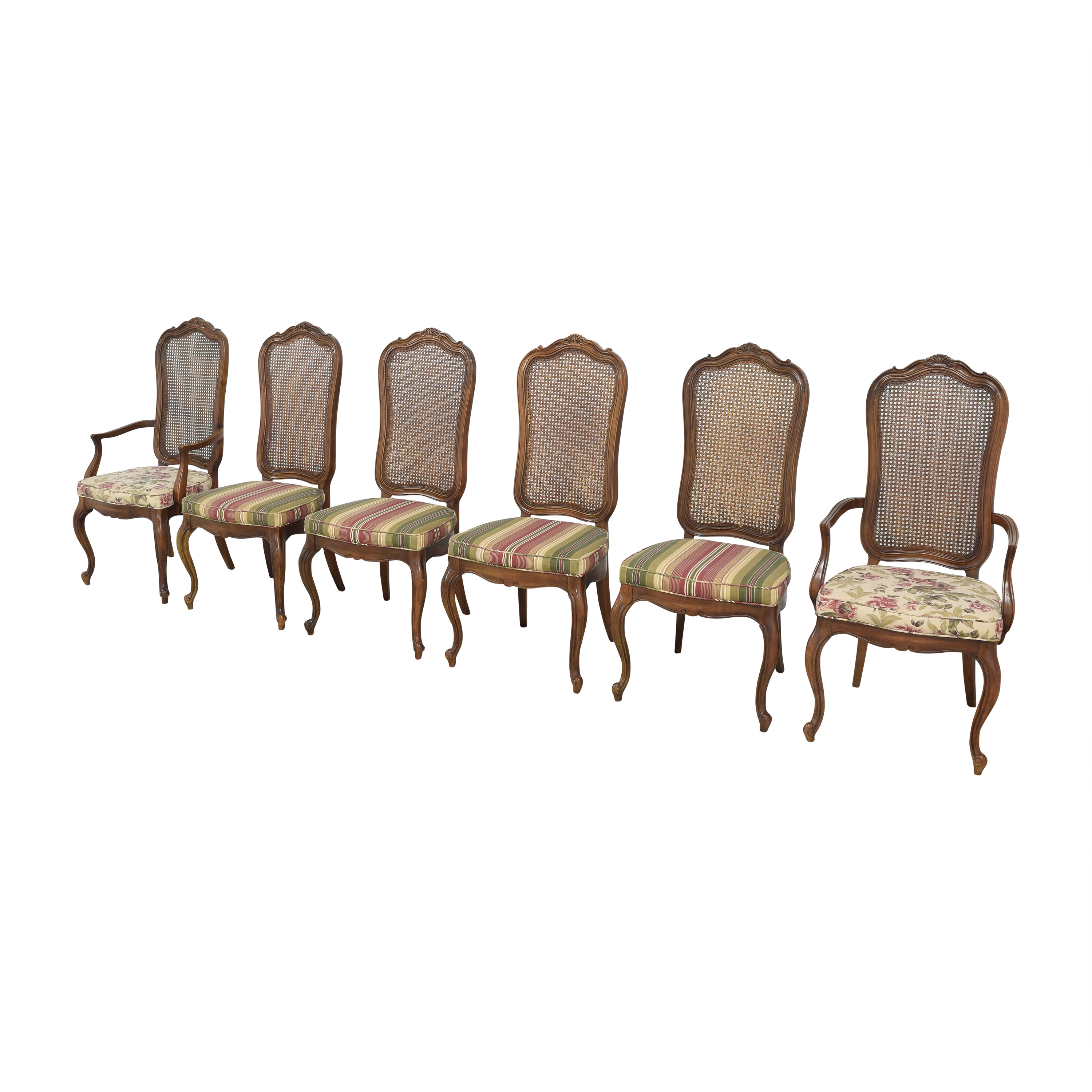 Thomasville Thomasville Cane Back Dining Chairs dimensions