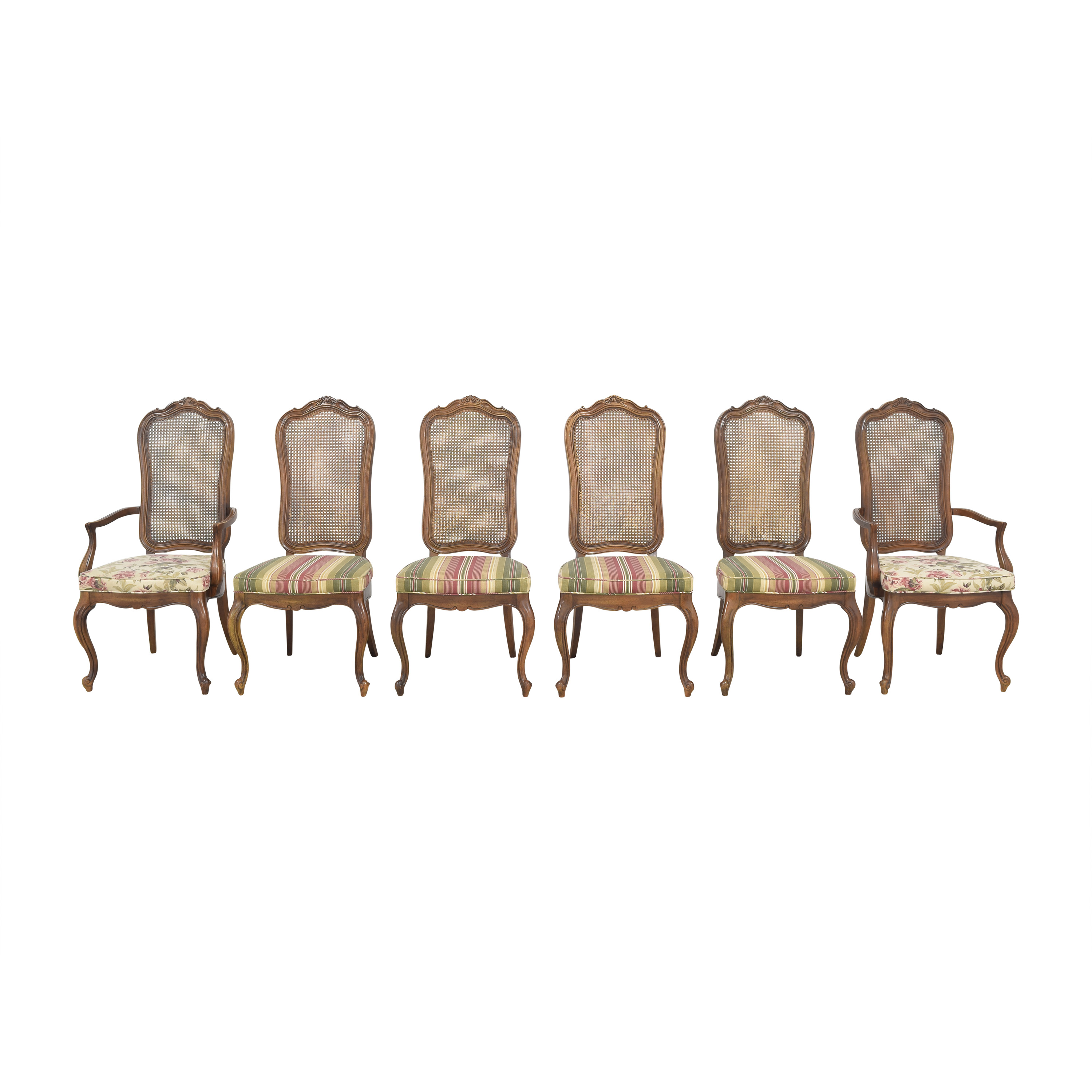 shop Thomasville Cane Back Dining Chairs Thomasville