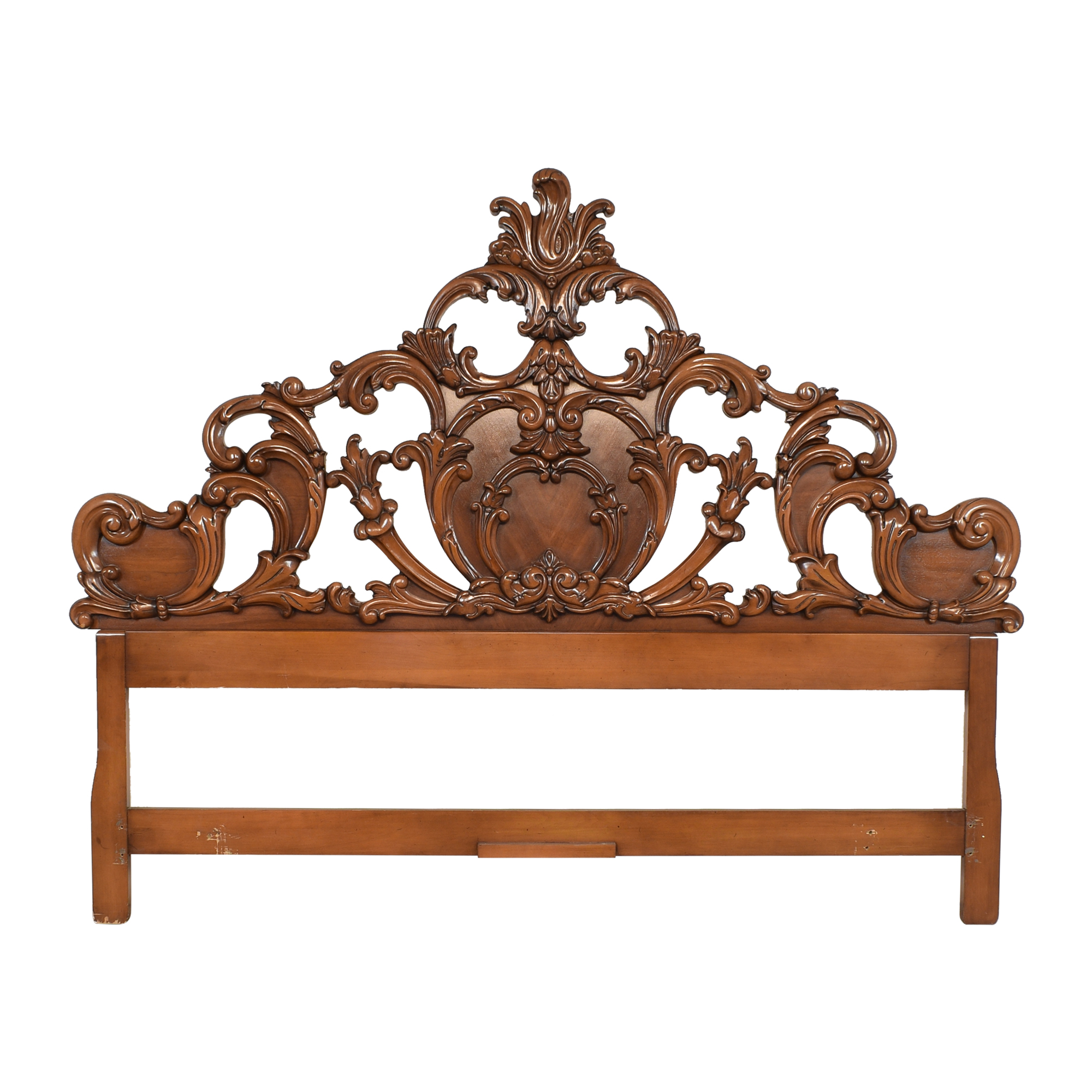 Union National Union Furniture Co. Carved King Headboard Beds