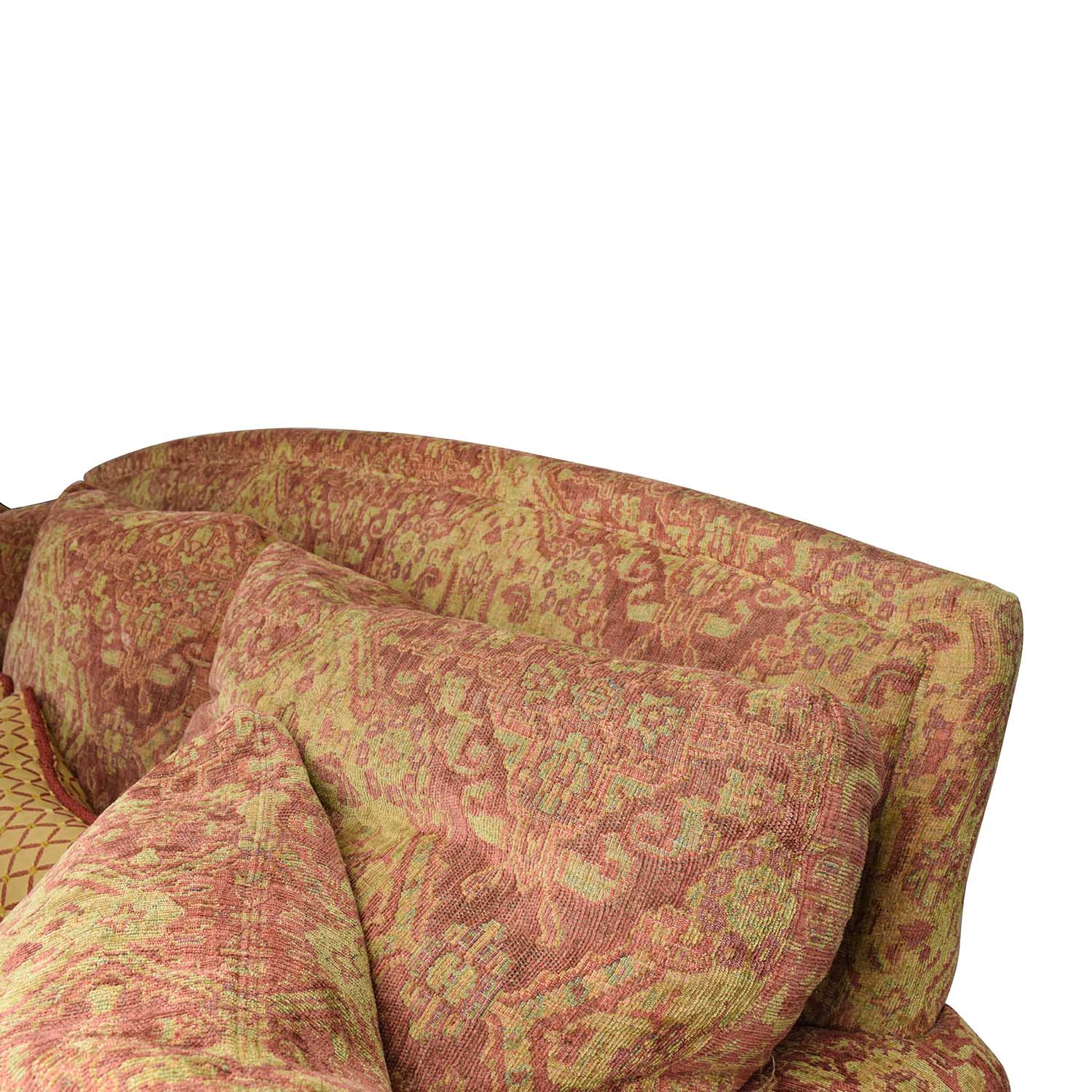 65 Off Ethan Allen Ethan Allen Paisley Cushioned Sofa