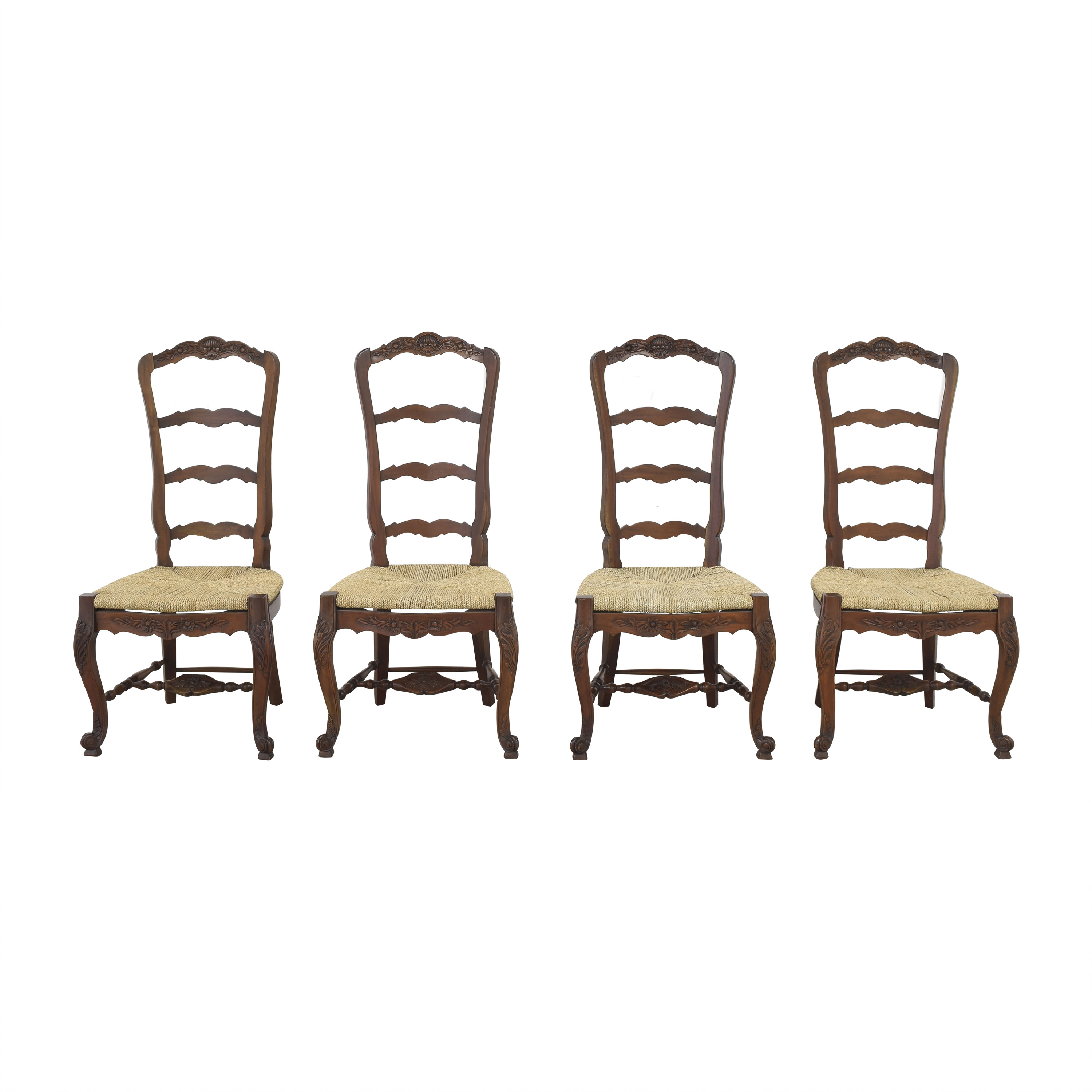 Marie Albert Marie Albert French Country Ladder Back Dining Chairs brown