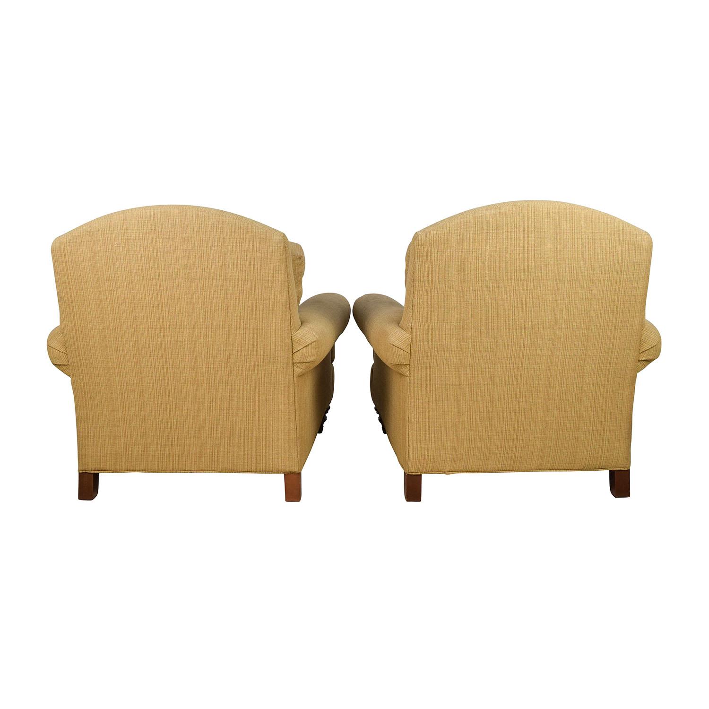 ... Ethan Allen Ethan Allen Hyde Chair Pair And Single Ottoman Chairs ...