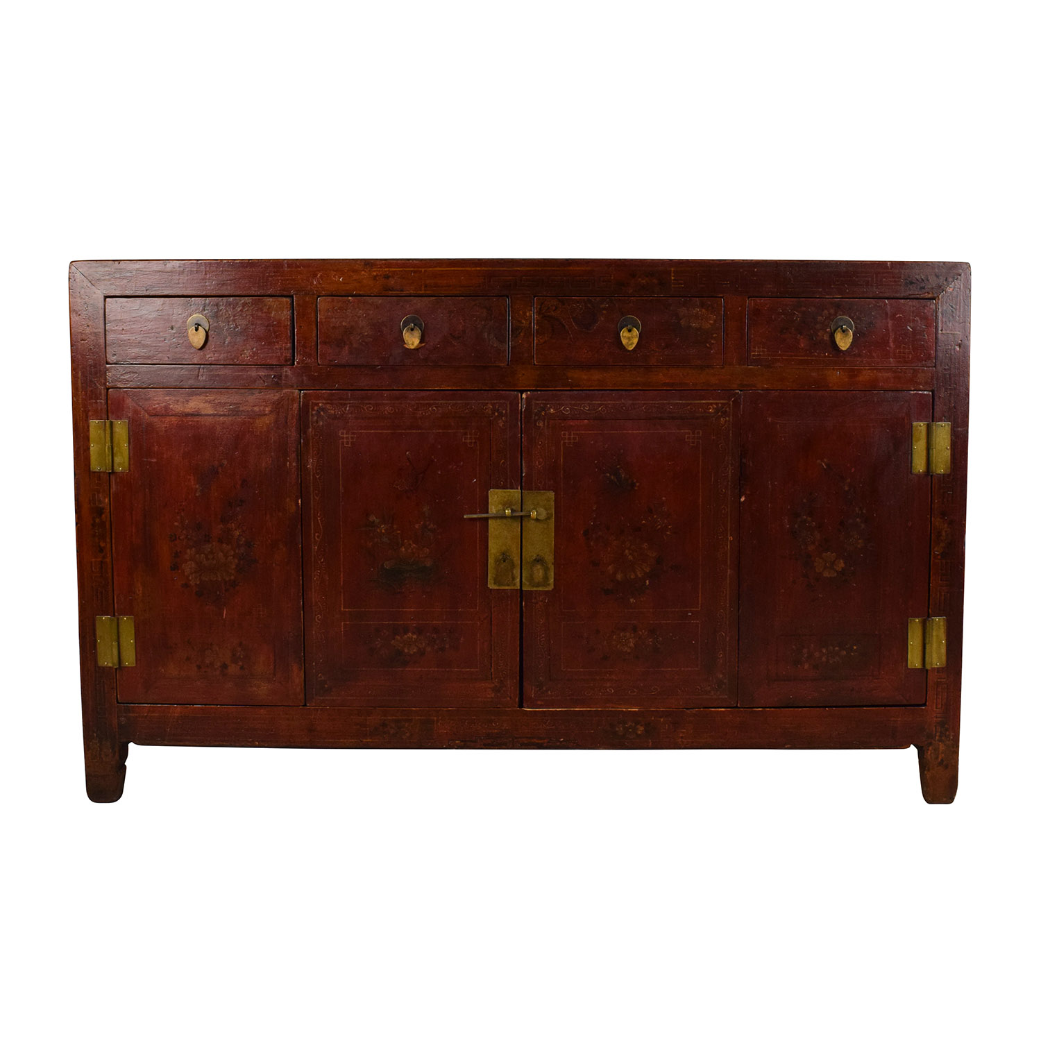 Solid Wood Southeast Asian Credenza Brown