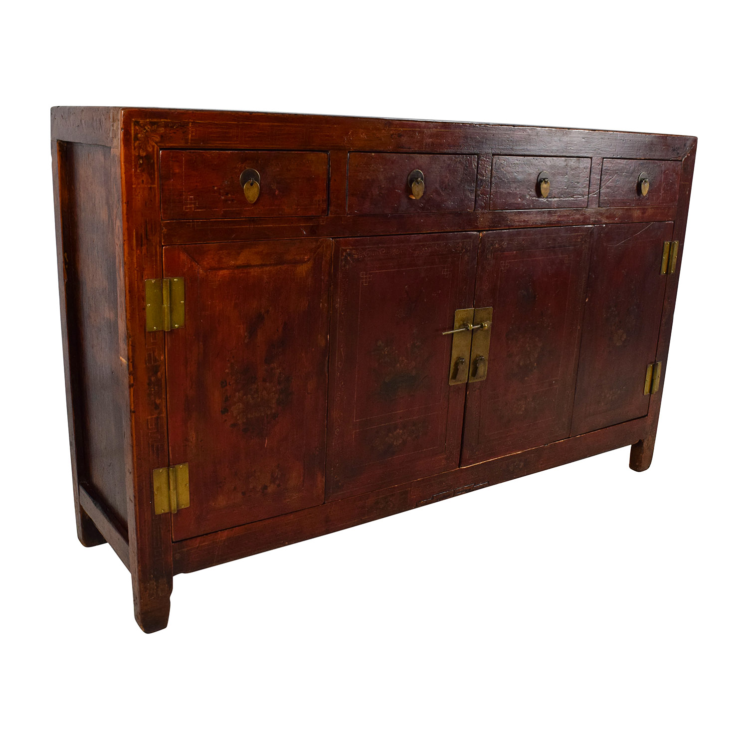 Solid Wood Southeast Asian Credenza