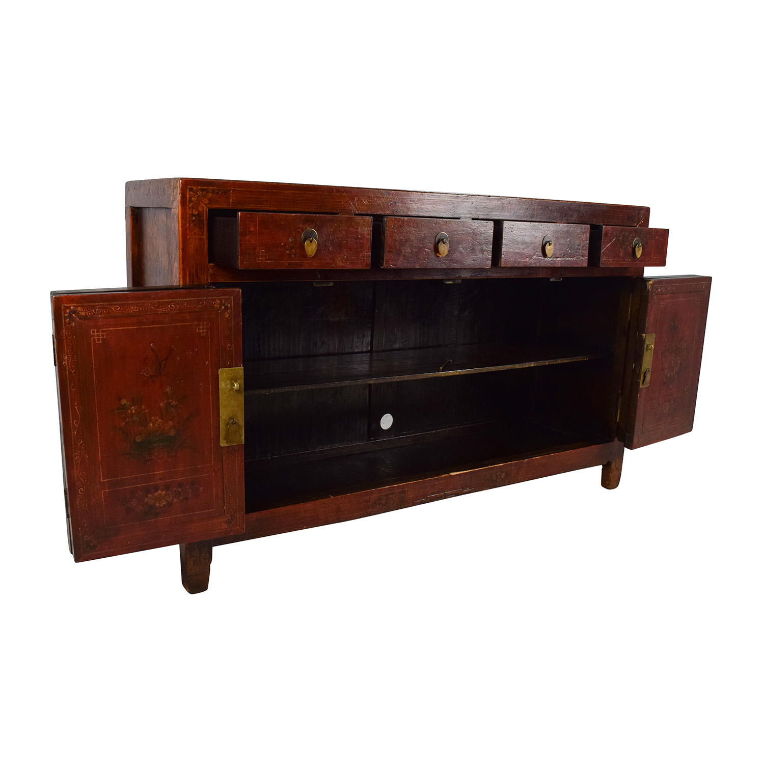 Solid Wood Southeast Asian Credenza Cabinets & Sideboards