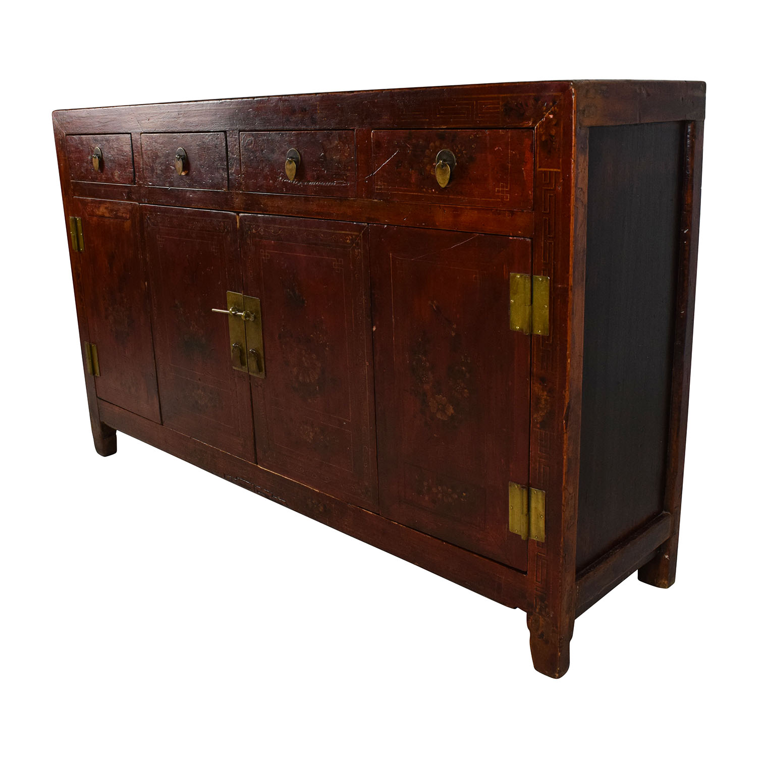 Solid Wood Southeast Asian Credenza for sale