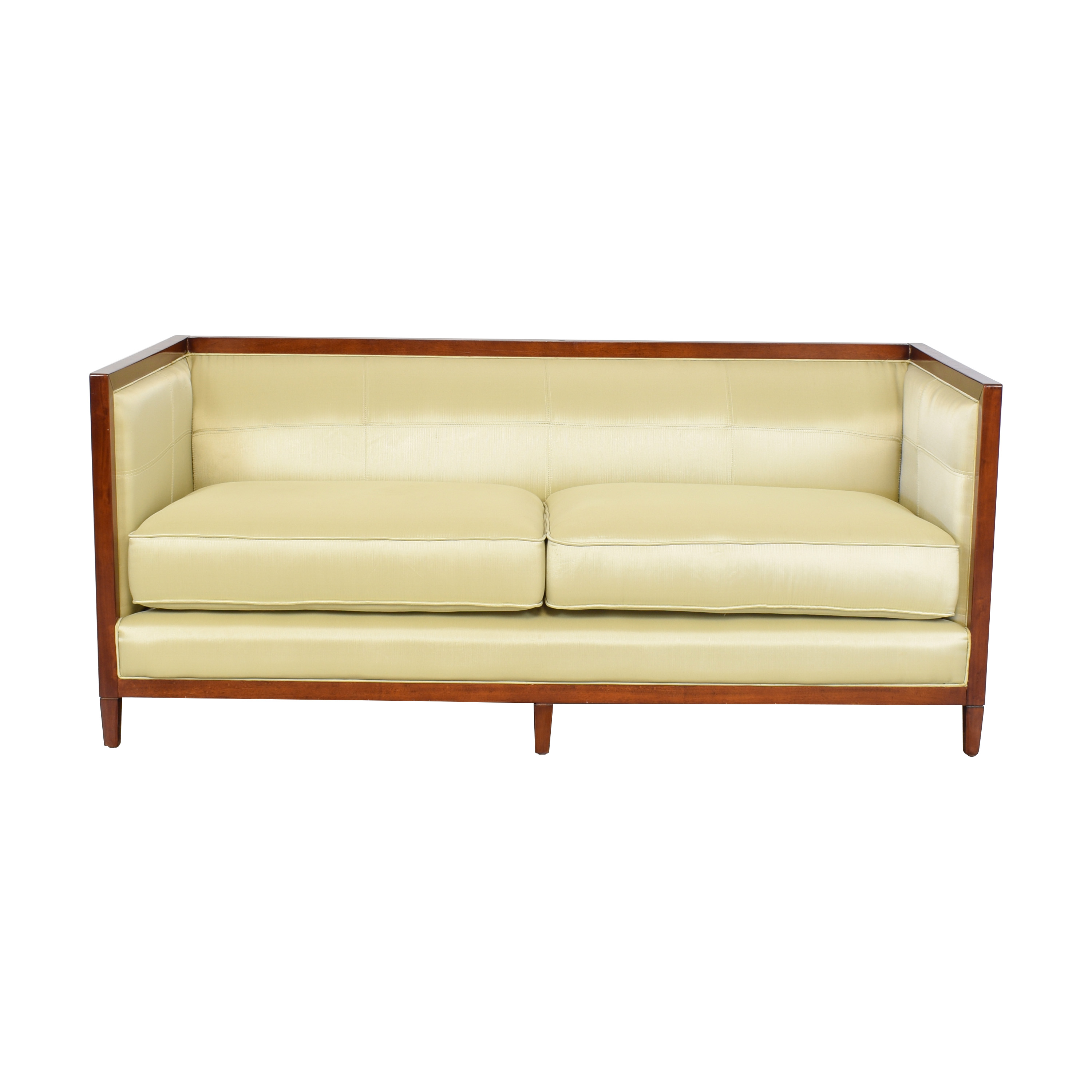 shop Baker Archetype Wood Banded Sofa Baker Furniture Classic Sofas