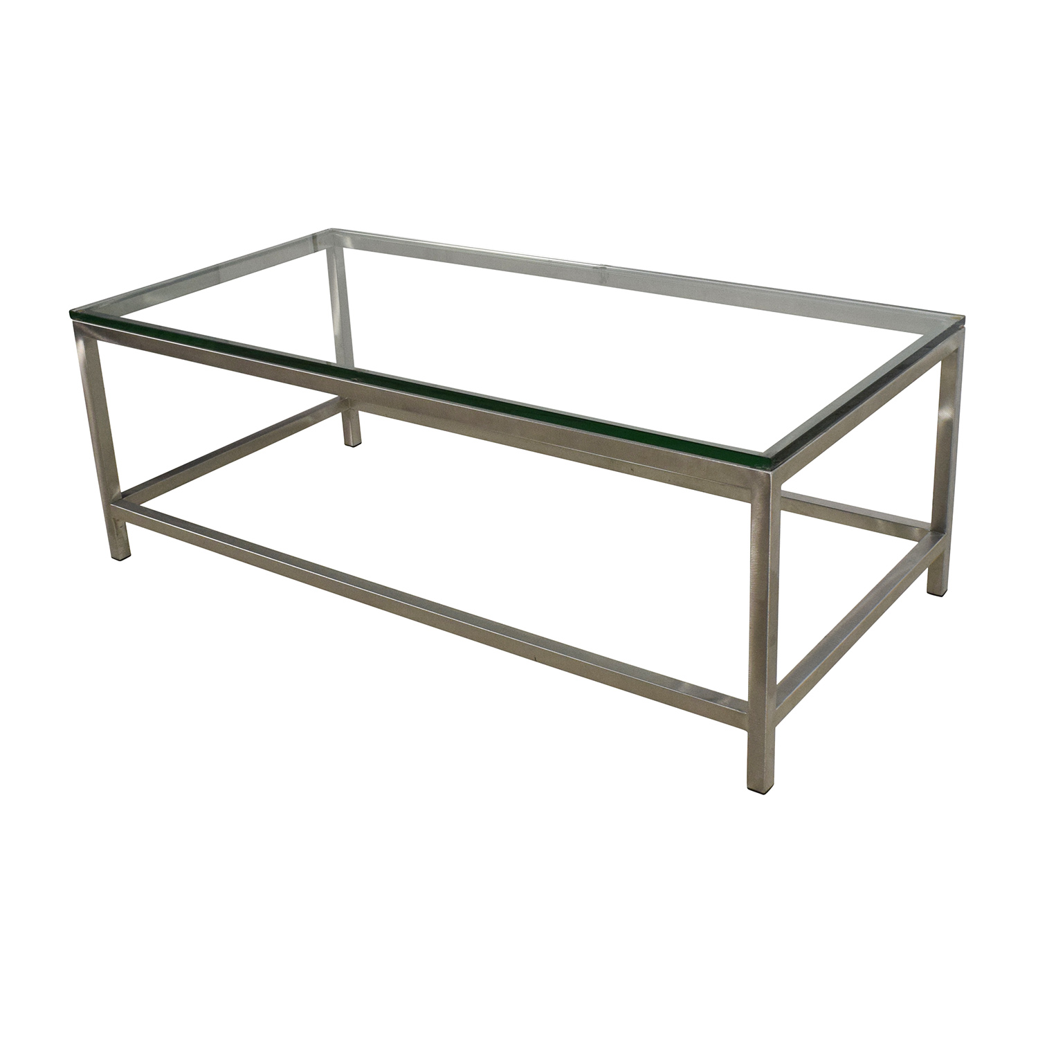 Great ... Crate And Barrel Crate U0026 Barrel Era Rectangular Glass Top Coffee Table  ...